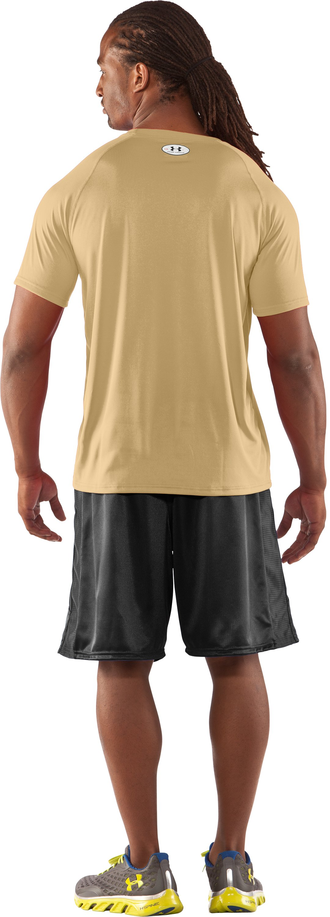 Men's UA Locker T-Shirt, Vegas Gold, Back