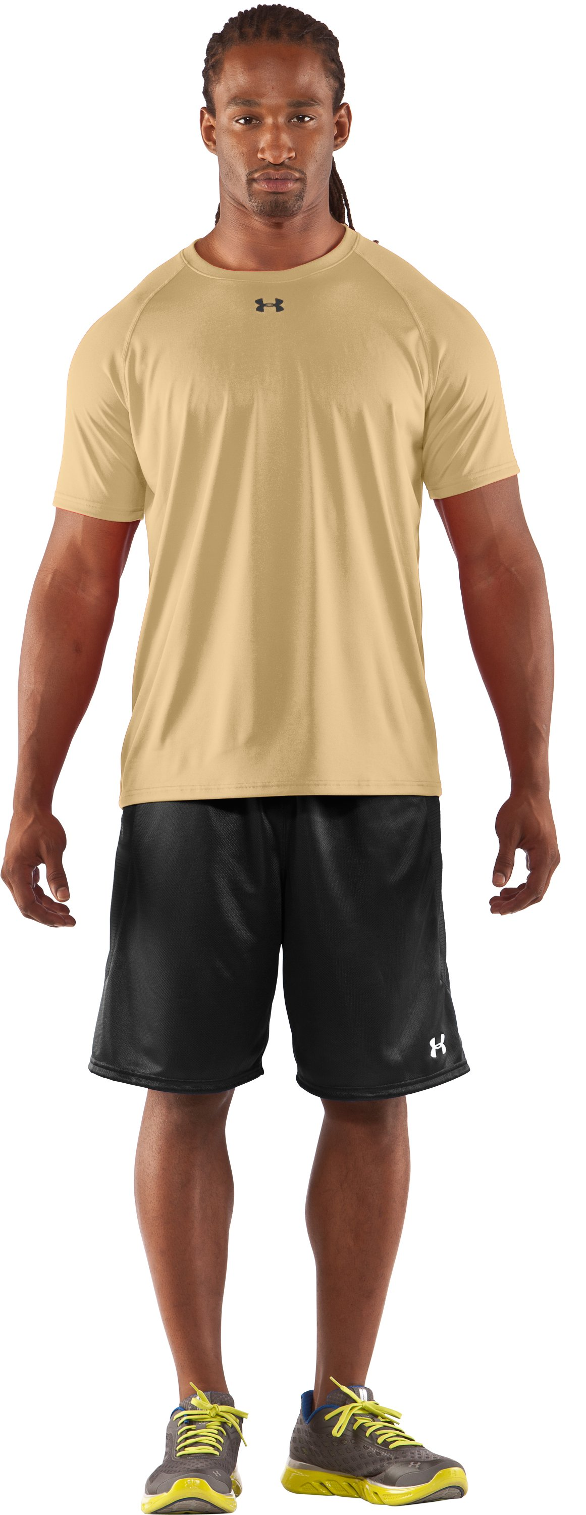 Men's UA Locker T-Shirt, Vegas Gold, Front