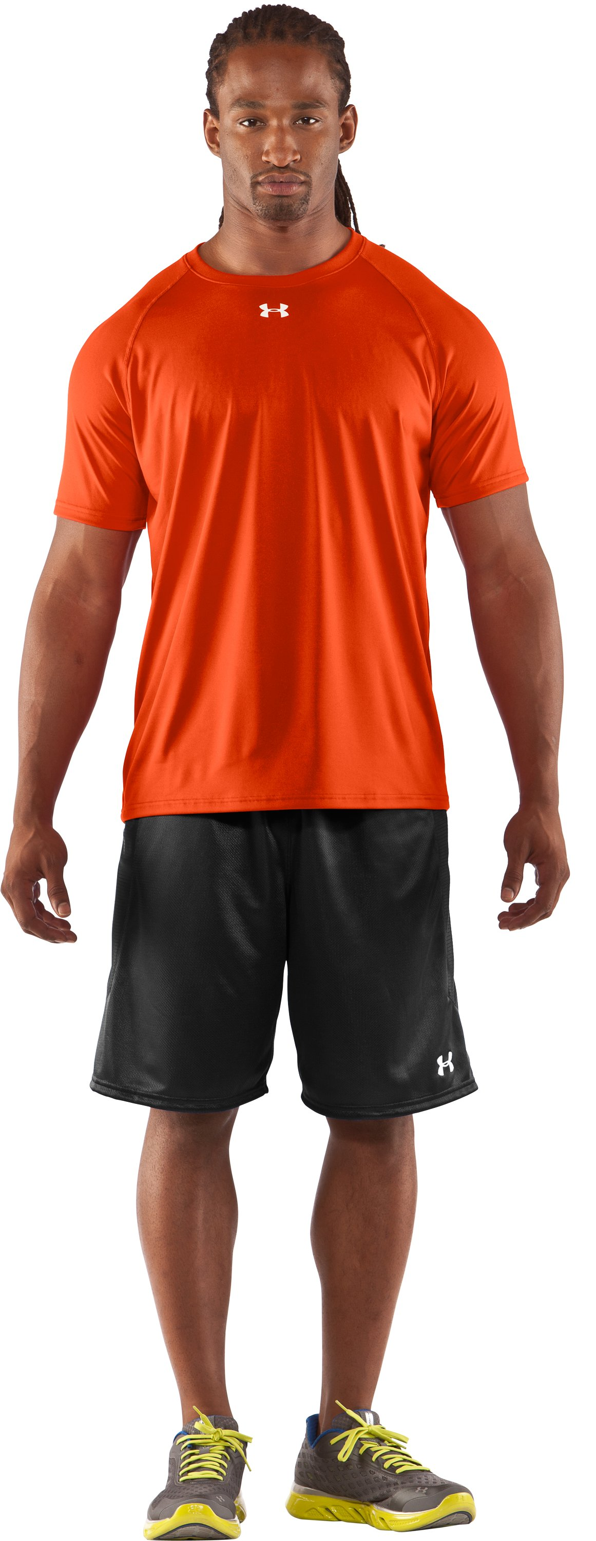 Men's UA Locker T-Shirt, Dark Orange, Front