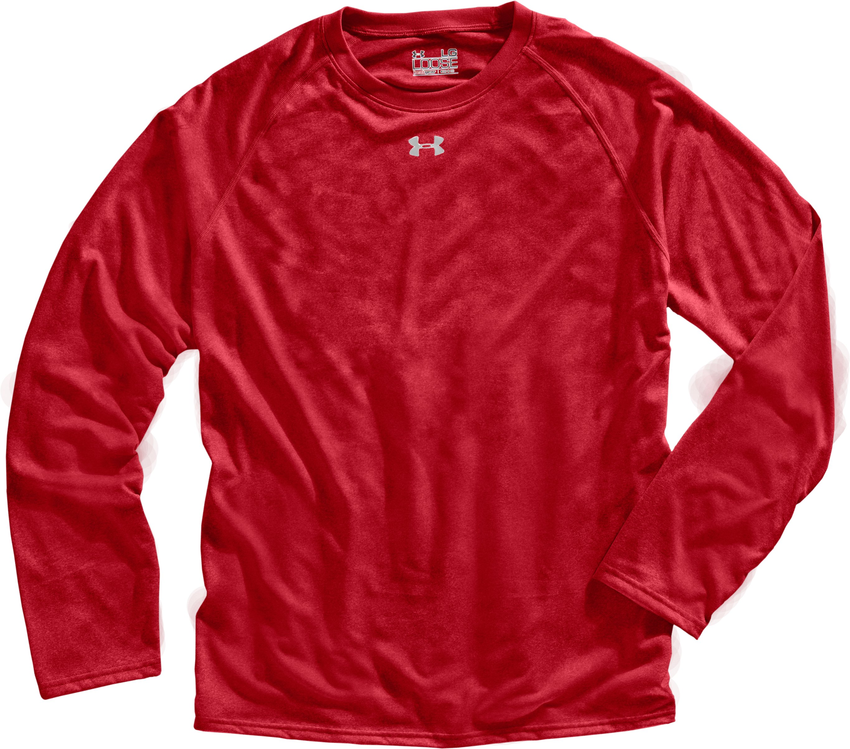 Men's UA Locker Long Sleeve T-Shirt, Red, Laydown