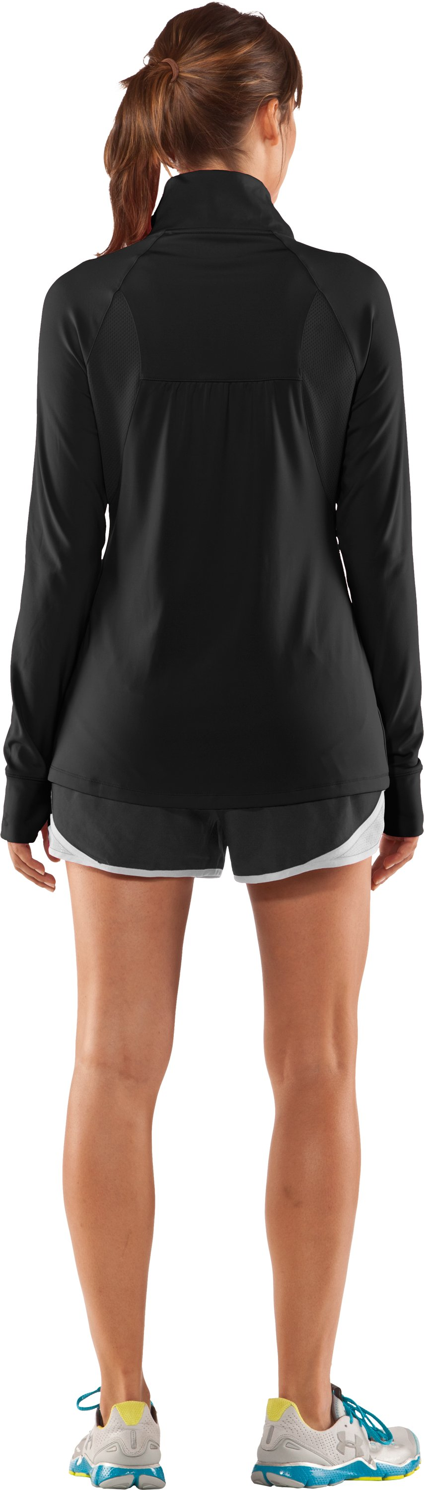Women's UA Escape Full Zip II, Black , Back