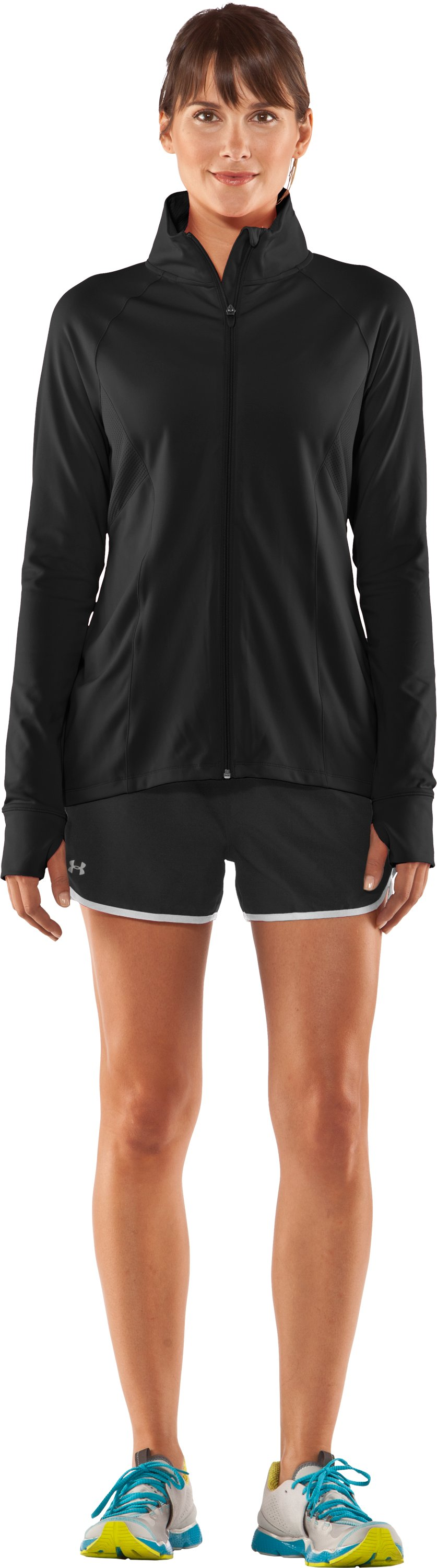 Women's UA Escape Full Zip II, Black , Front