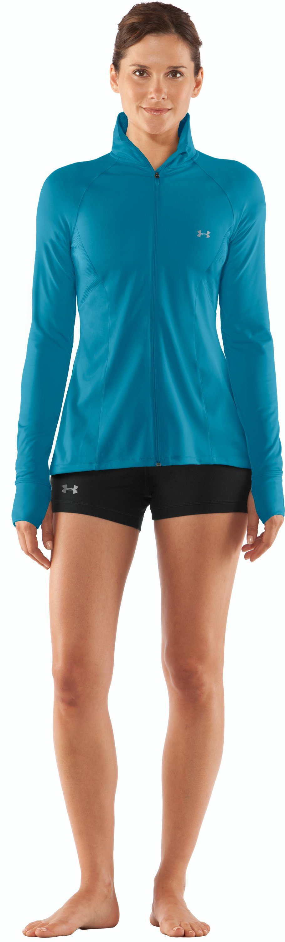 Women's UA Escape Full Zip II, Break, Front