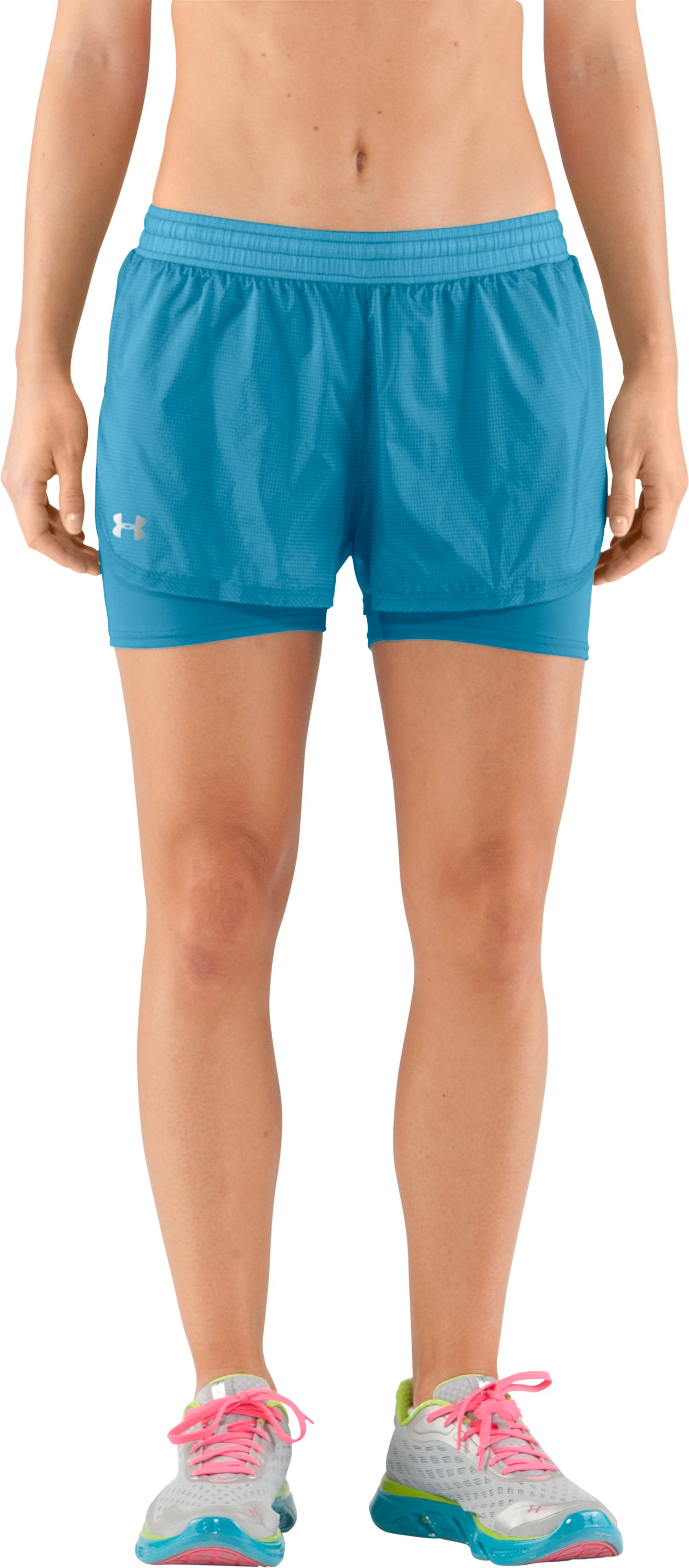 Women's UA See Me Go Translucent 2-in-1 Shorts, Deceit, zoomed image