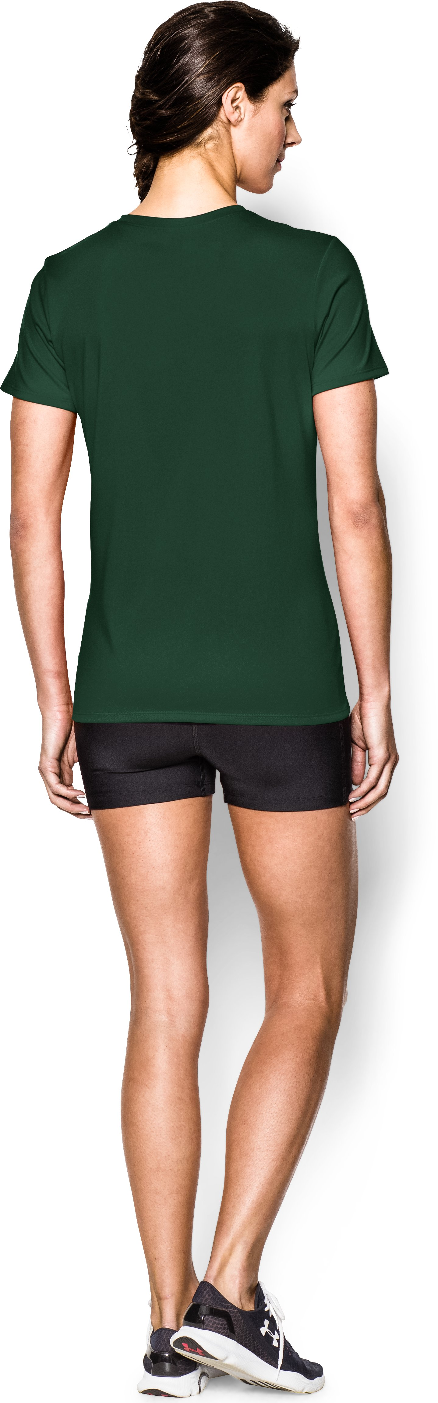 Women's UA Locker T-Shirt, Forest Green, Back