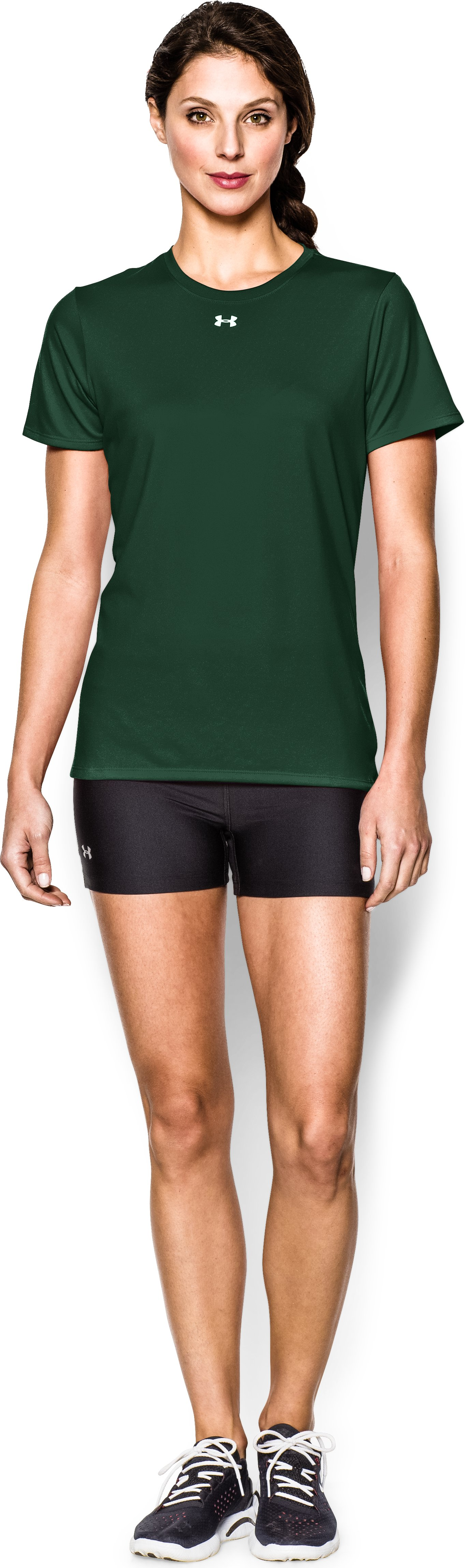 Women's UA Locker T-Shirt, Forest Green, Front
