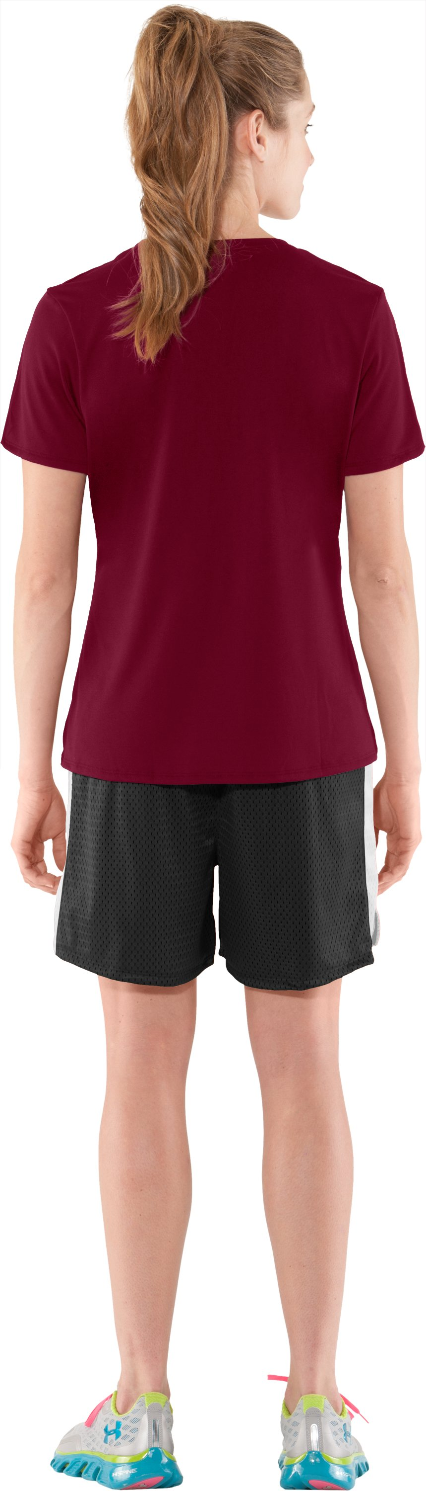 Women's UA Locker T-Shirt, Maroon, Back