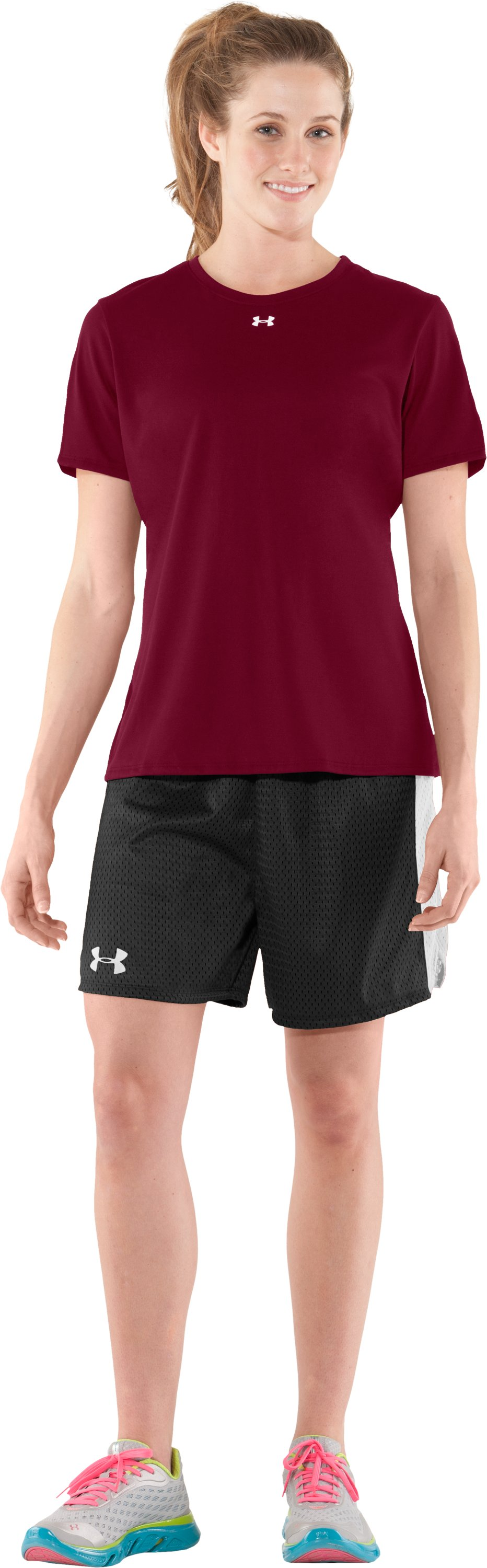 Women's UA Locker T-Shirt, Maroon, Front