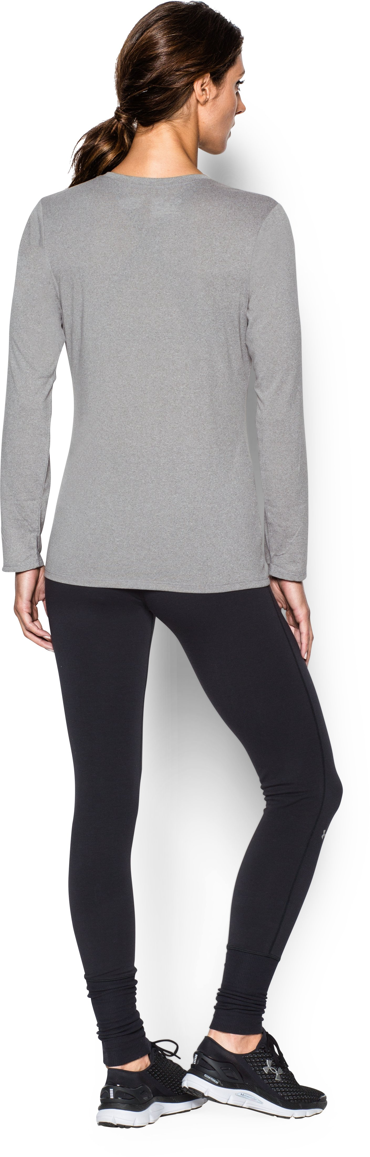 Women's Locker Long Sleeve T-Shirt, True Gray Heather, Back