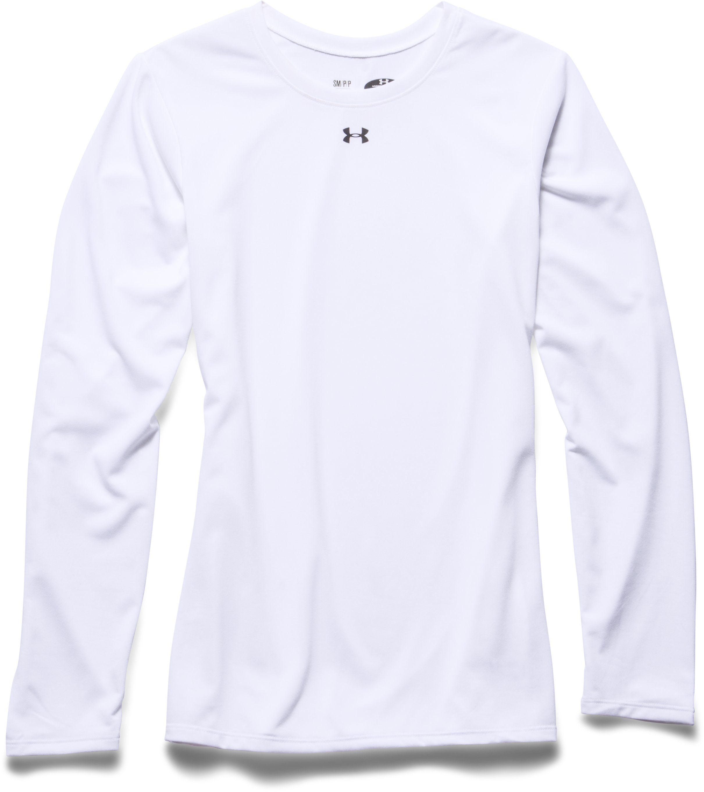 Women's Locker Long Sleeve T-Shirt, White, Laydown