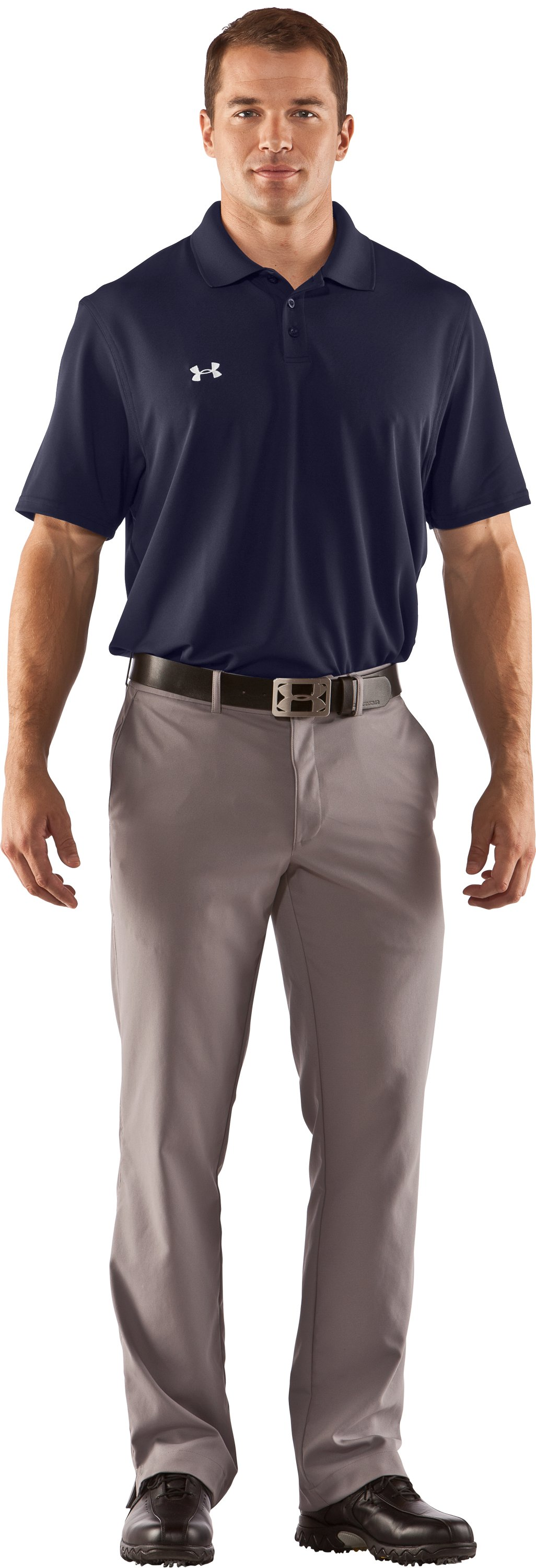Men's UA Performance Team Polo, Midnight Navy, zoomed image
