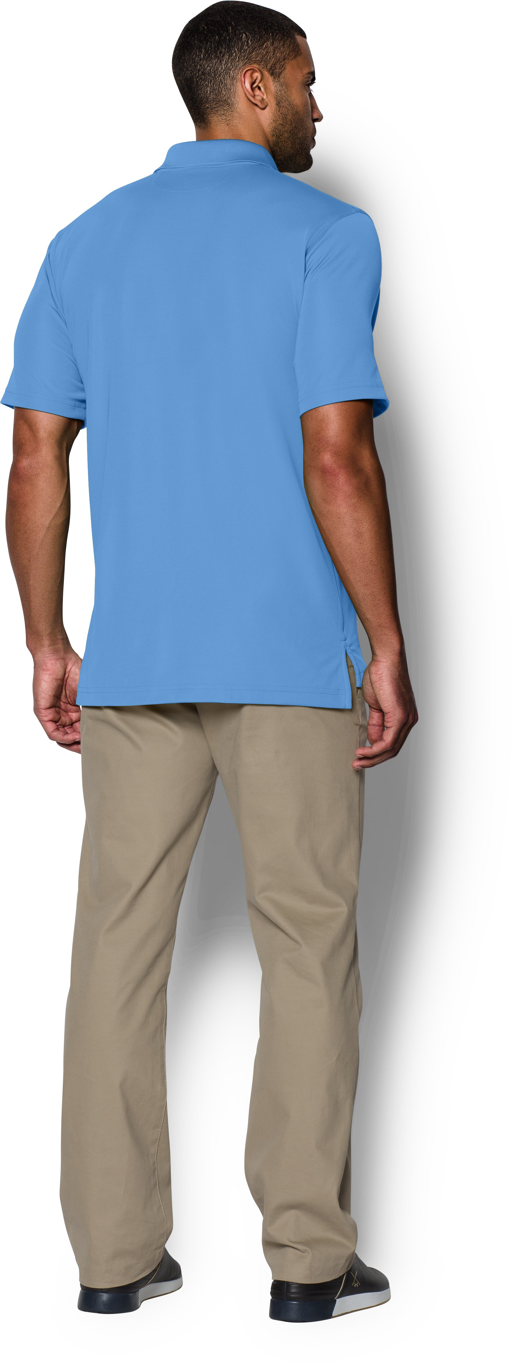 Men's UA Performance Team Polo, Carolina Blue, Back
