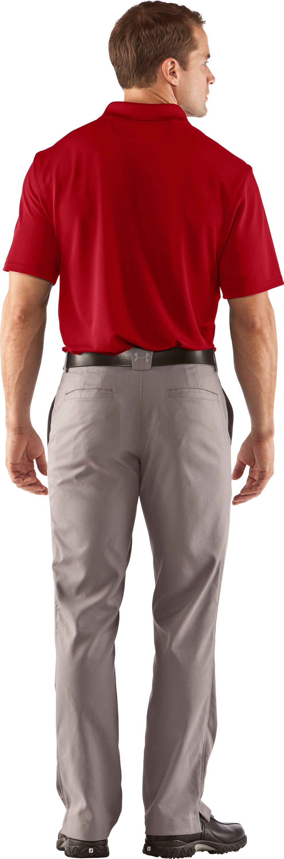 Men's UA Performance Team Polo, Red, Back