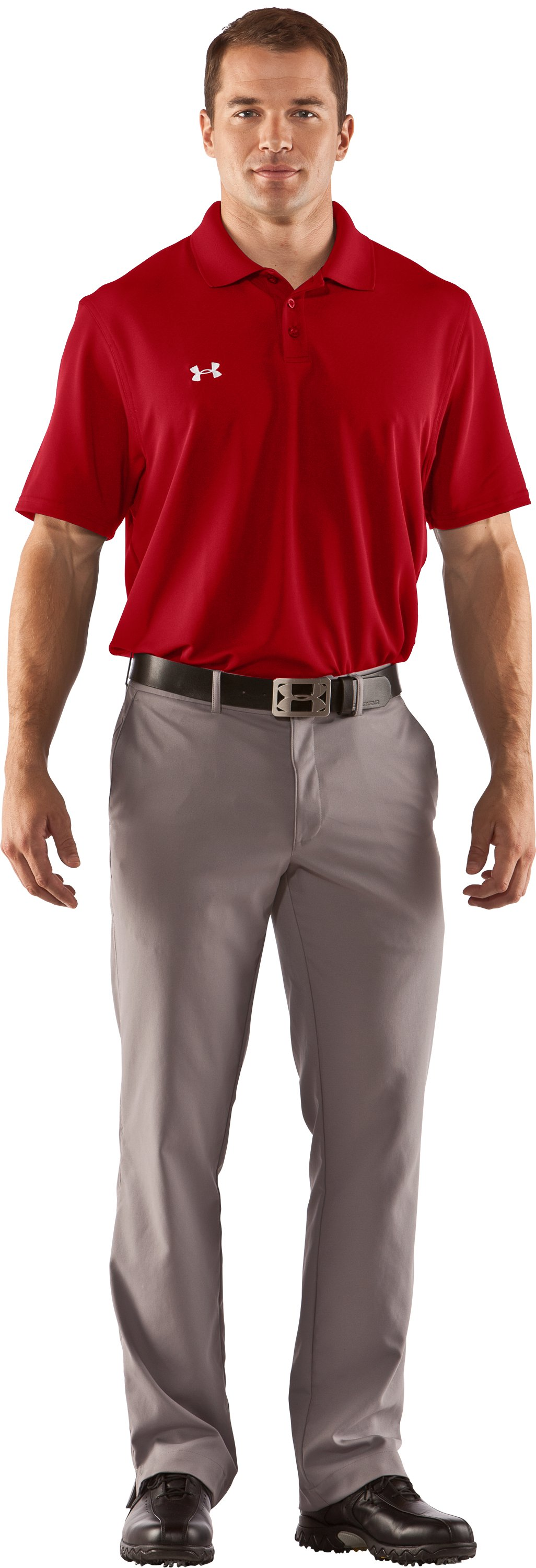 Men's UA Performance Team Polo, Red, Front
