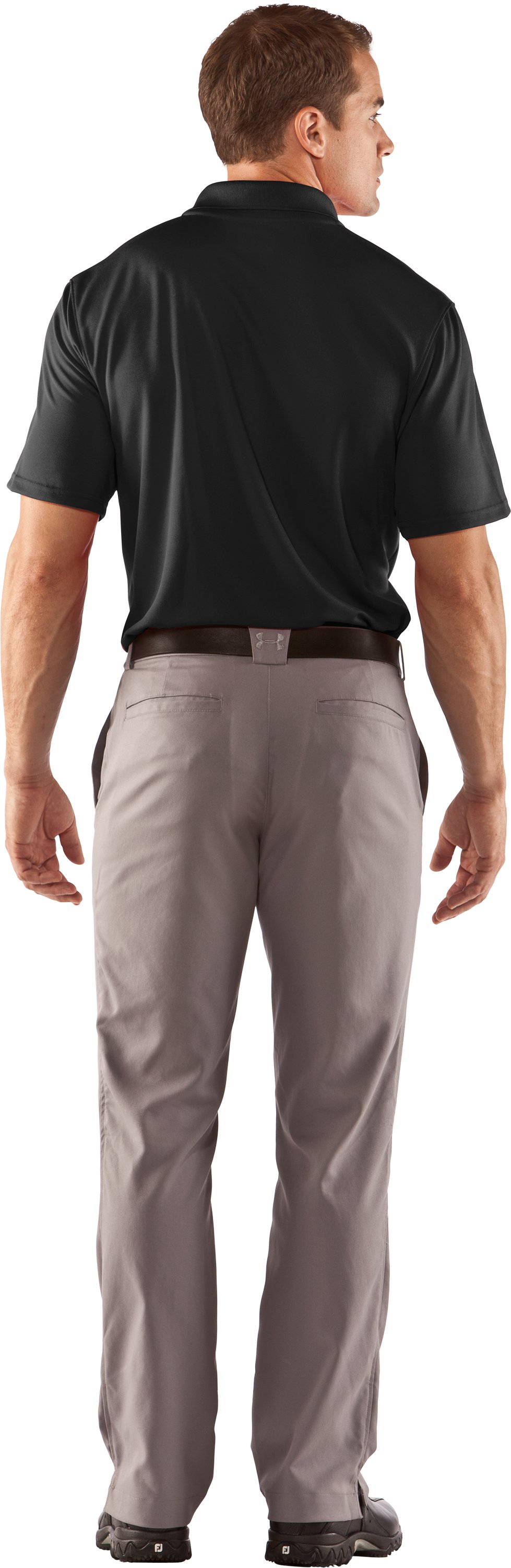 Men's UA Clutch II Polo, Black , Back