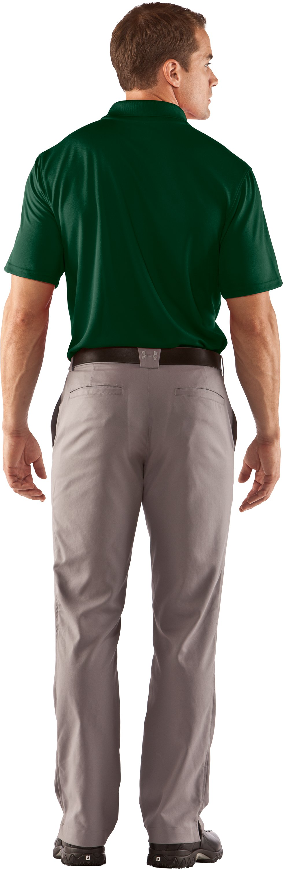 Men's UA Clutch II Polo, Forest Green, Back