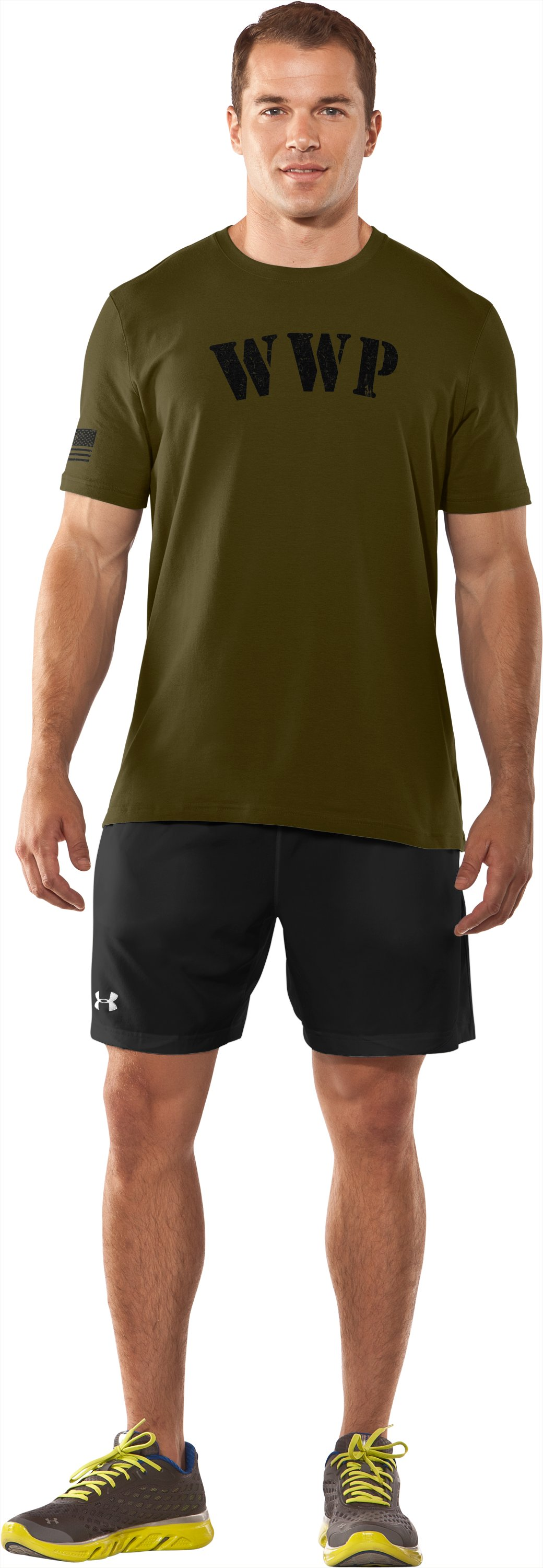 Men's UA WWP T-Shirt, Marine OD Green, Front