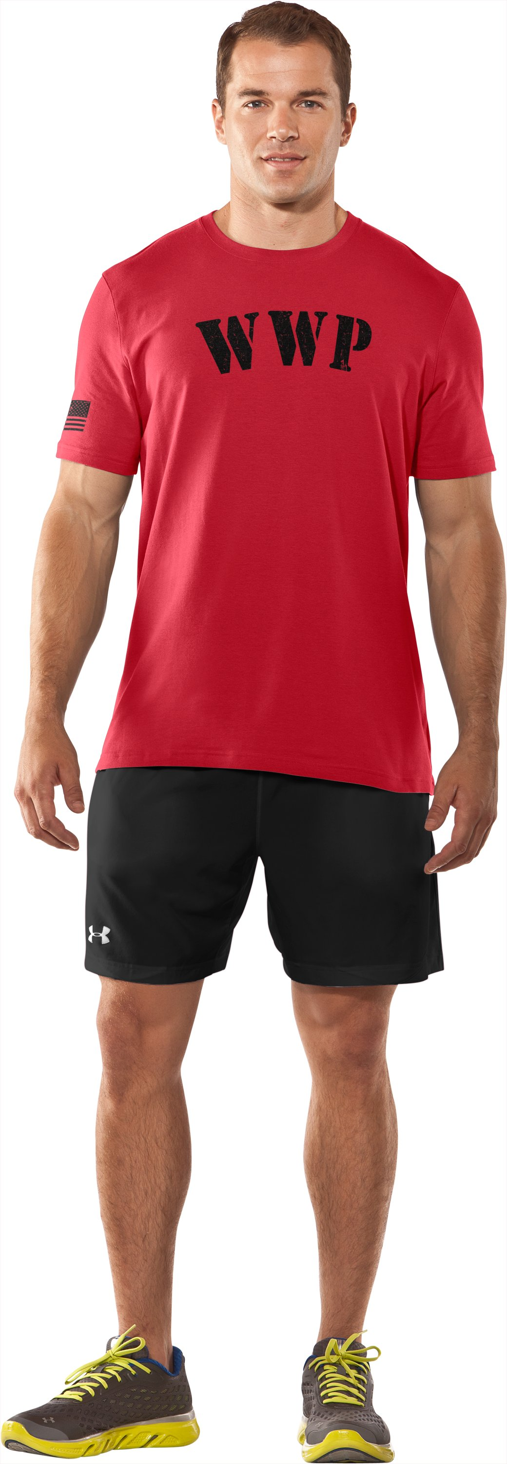 Men's UA WWP T-Shirt, Red, Front