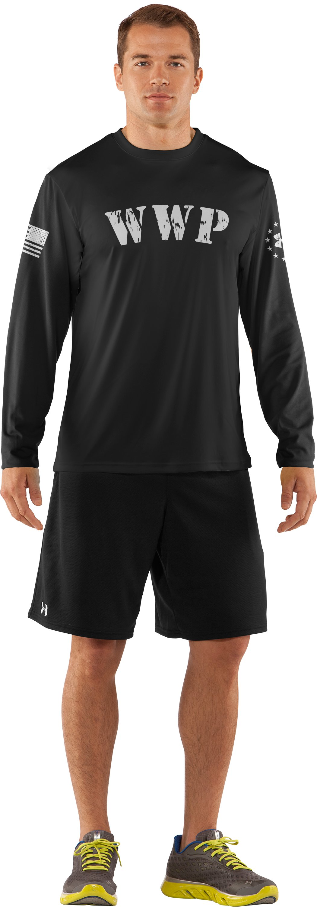 Men's WWP Long Sleeve T-Shirt, Black , Front