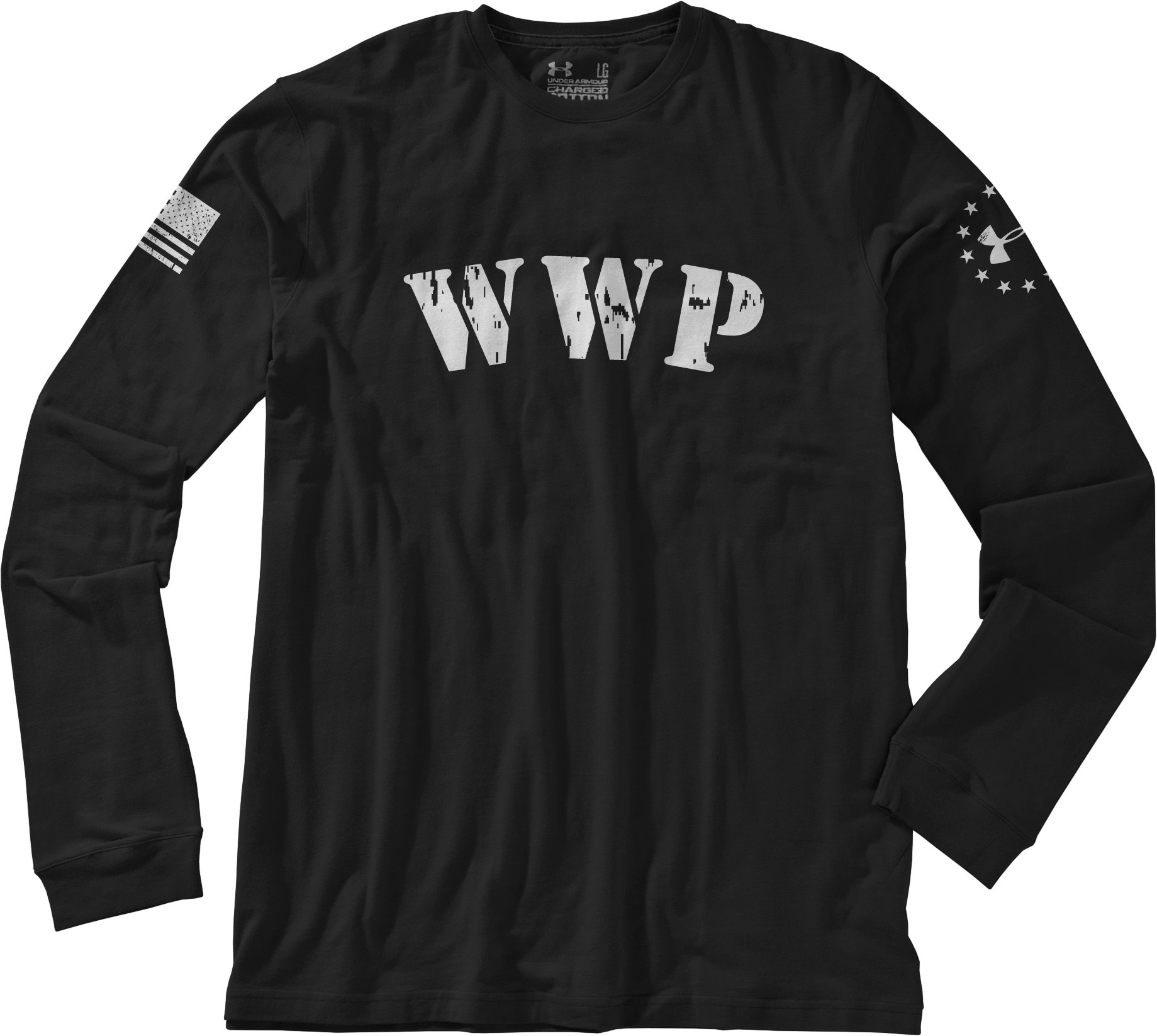 Men's WWP Long Sleeve T-Shirt, Black , Laydown