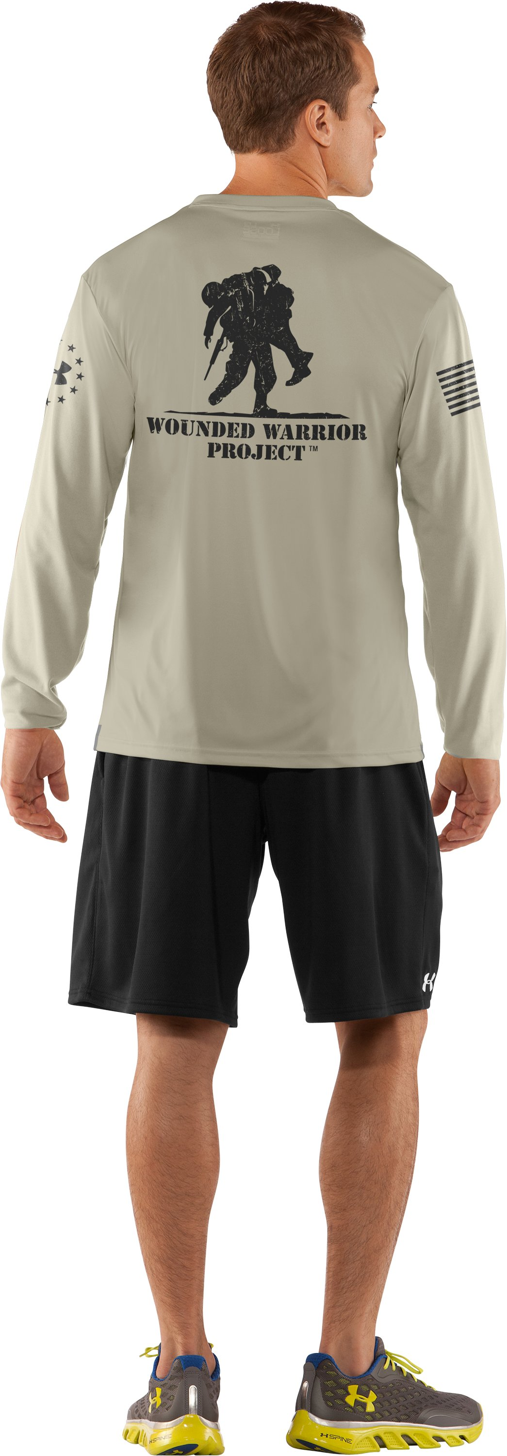 Men's WWP Long Sleeve T-Shirt, Desert Sand, Back