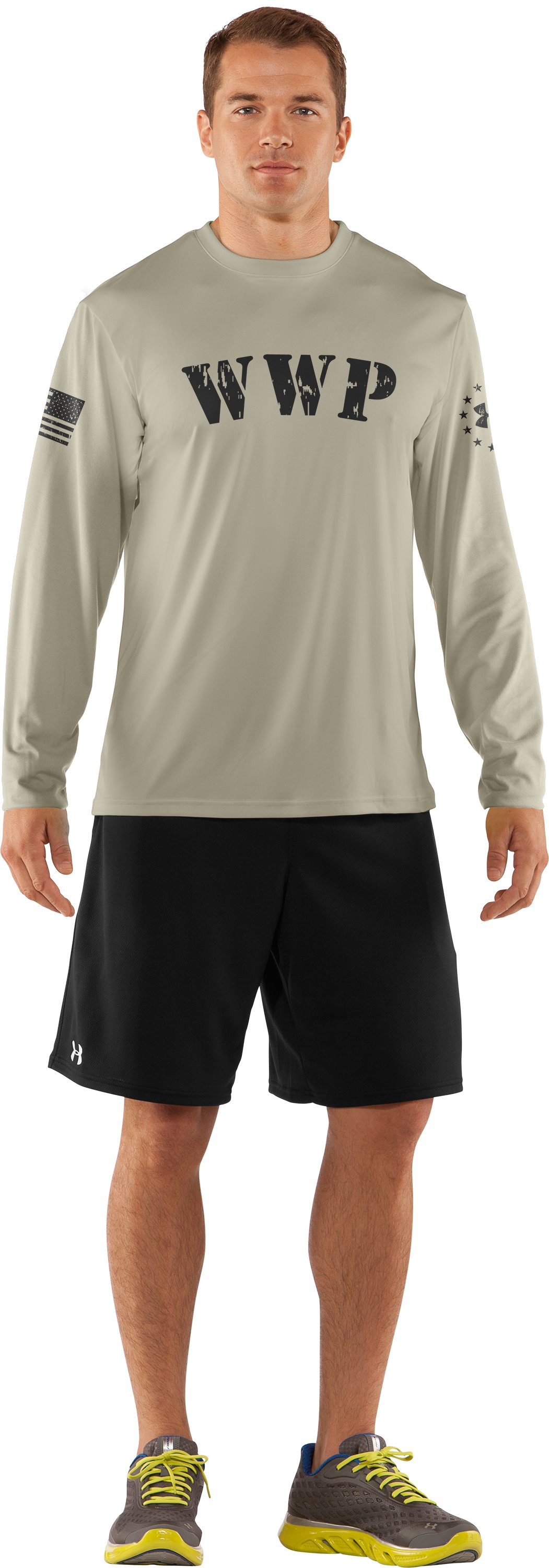 Men's WWP Long Sleeve T-Shirt, Desert Sand, Front