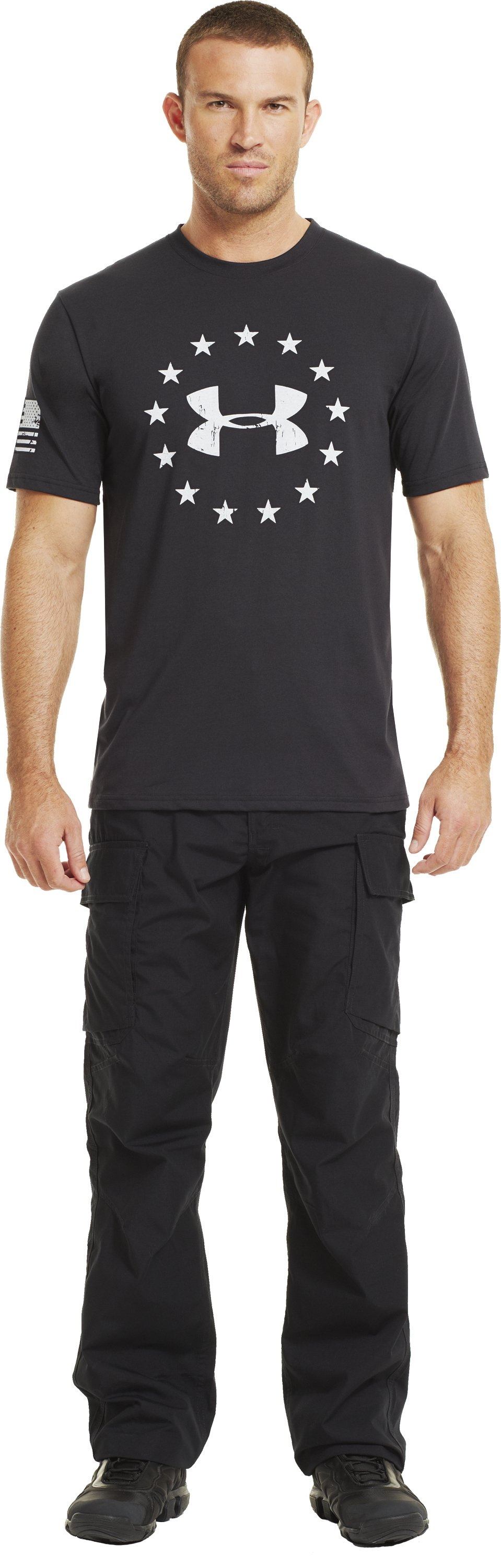 Men's UA Freedom T-Shirt, Black , Front