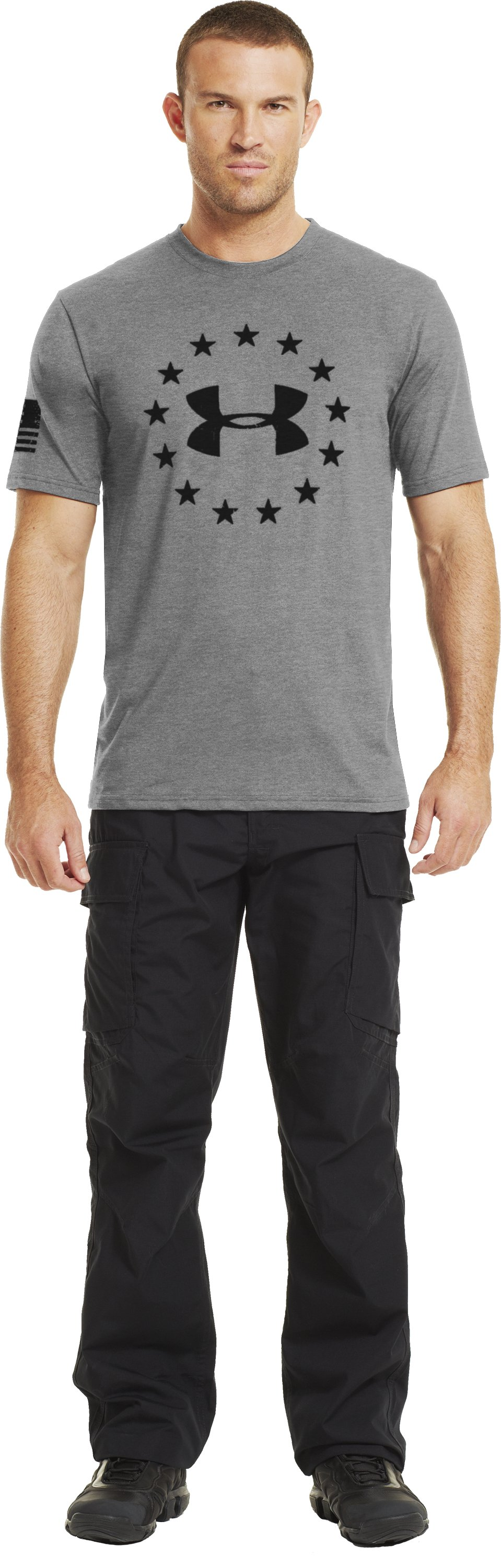 Men's UA Freedom T-Shirt, True Gray Heather, Front