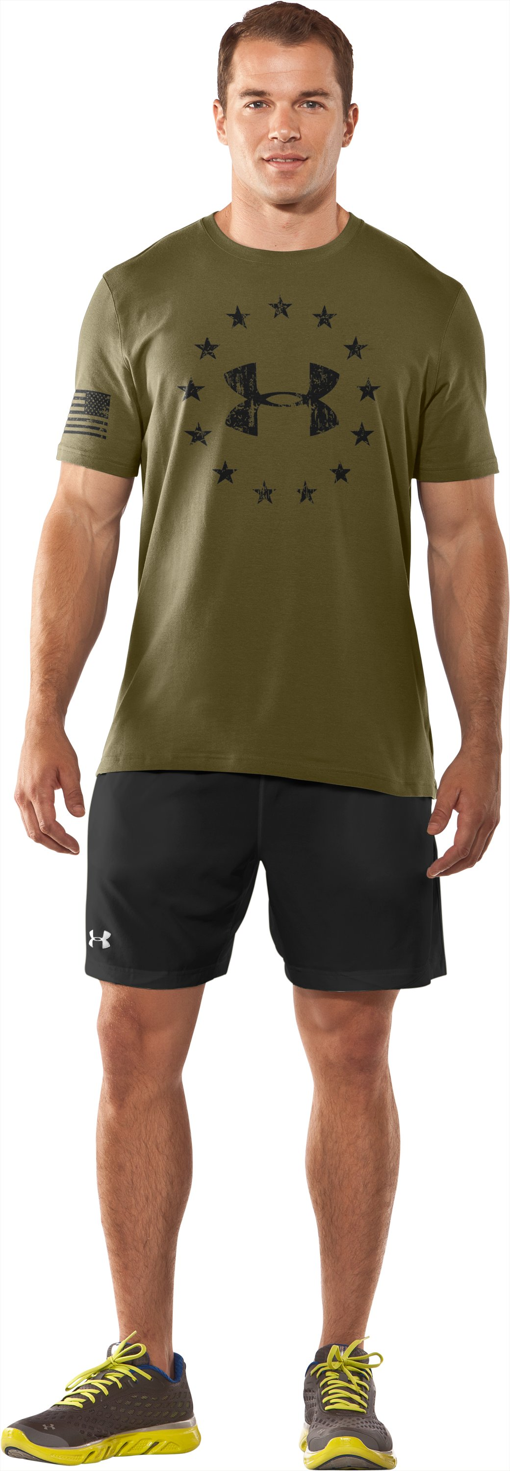 Men's UA Freedom T-Shirt, Marine OD Green