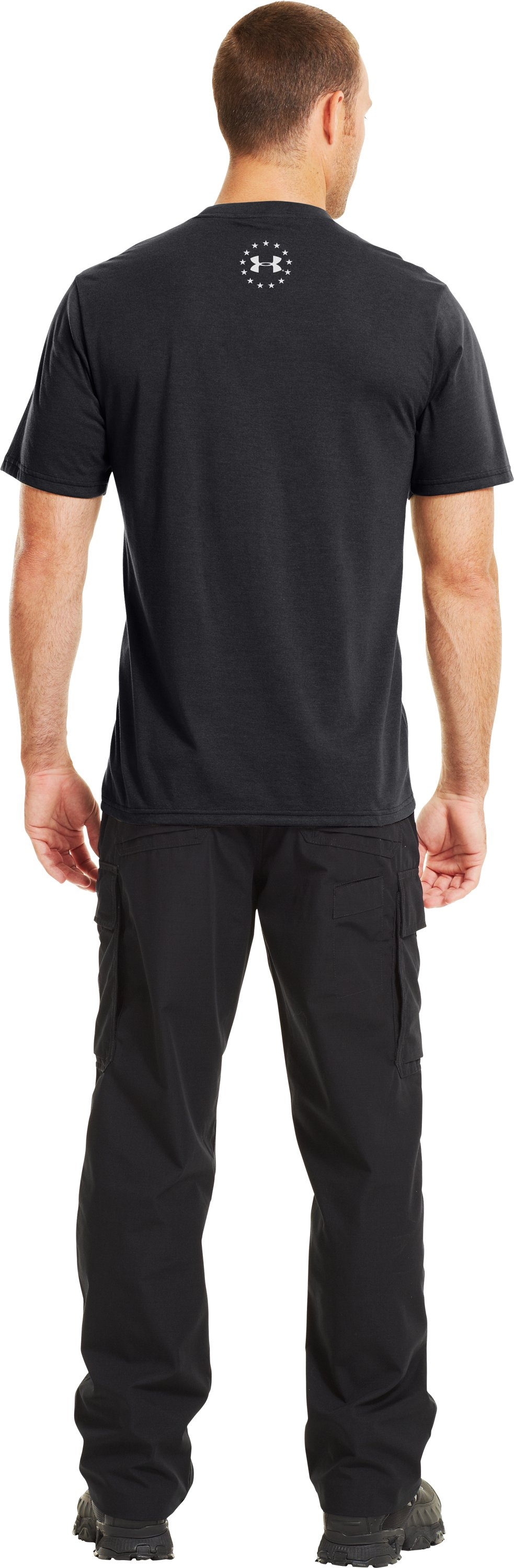 Men's UA Freedom Support T-Shirt, Black , Back