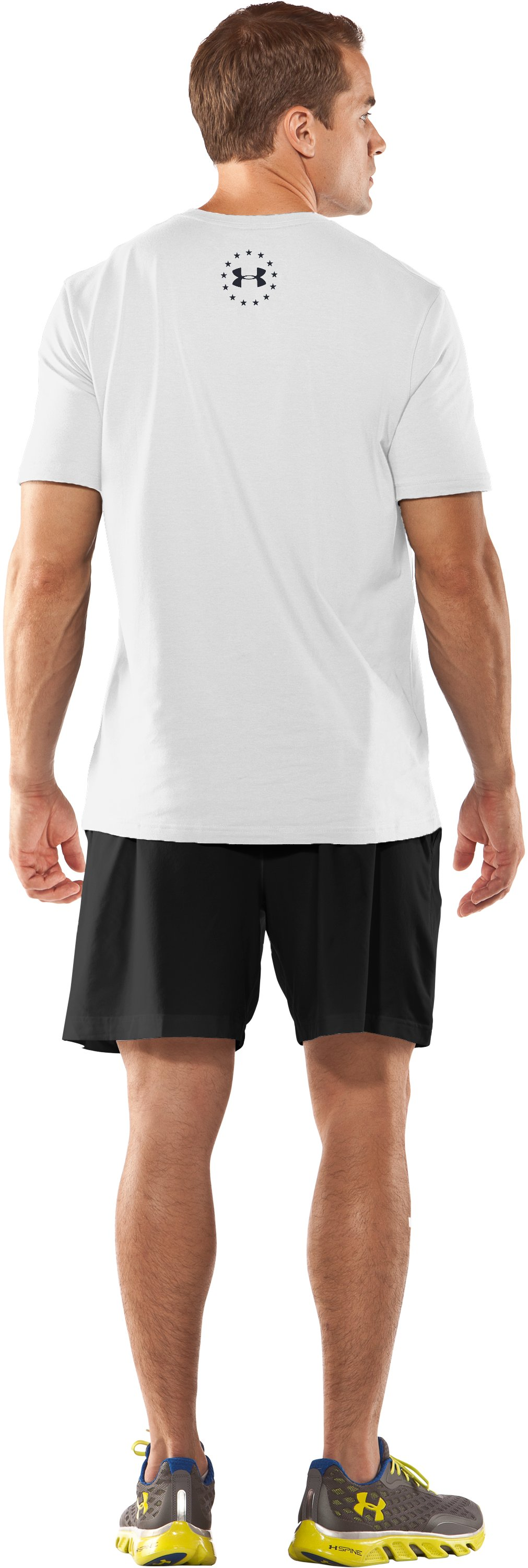Men's UA Freedom Support T-Shirt, White, Back