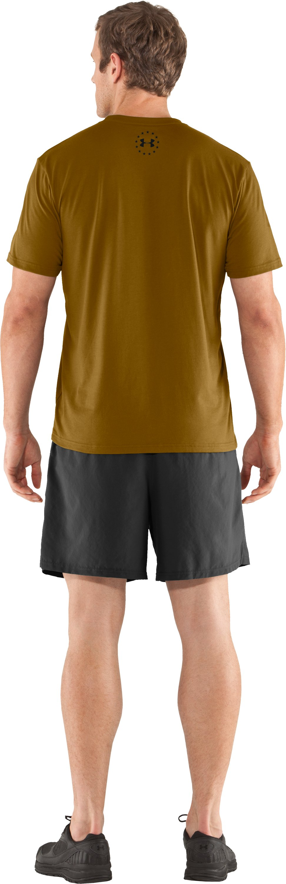 Men's UA Freedom Support T-Shirt, Army Brown, Back
