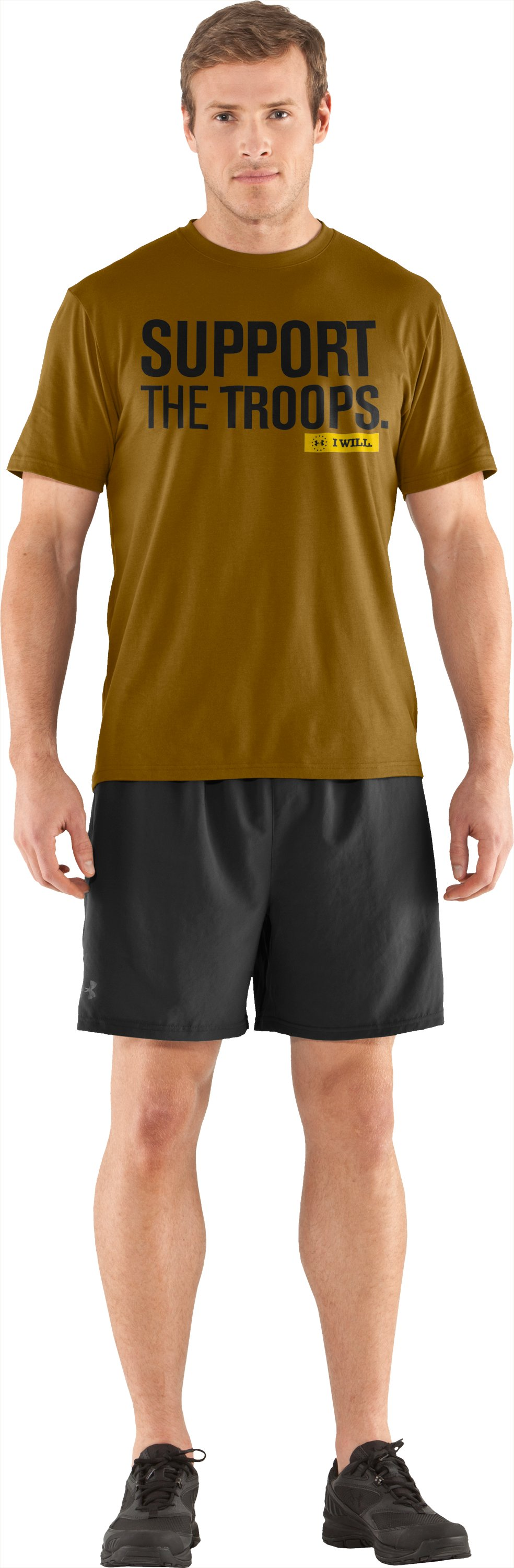 Men's UA Freedom Support T-Shirt, Army Brown, Front