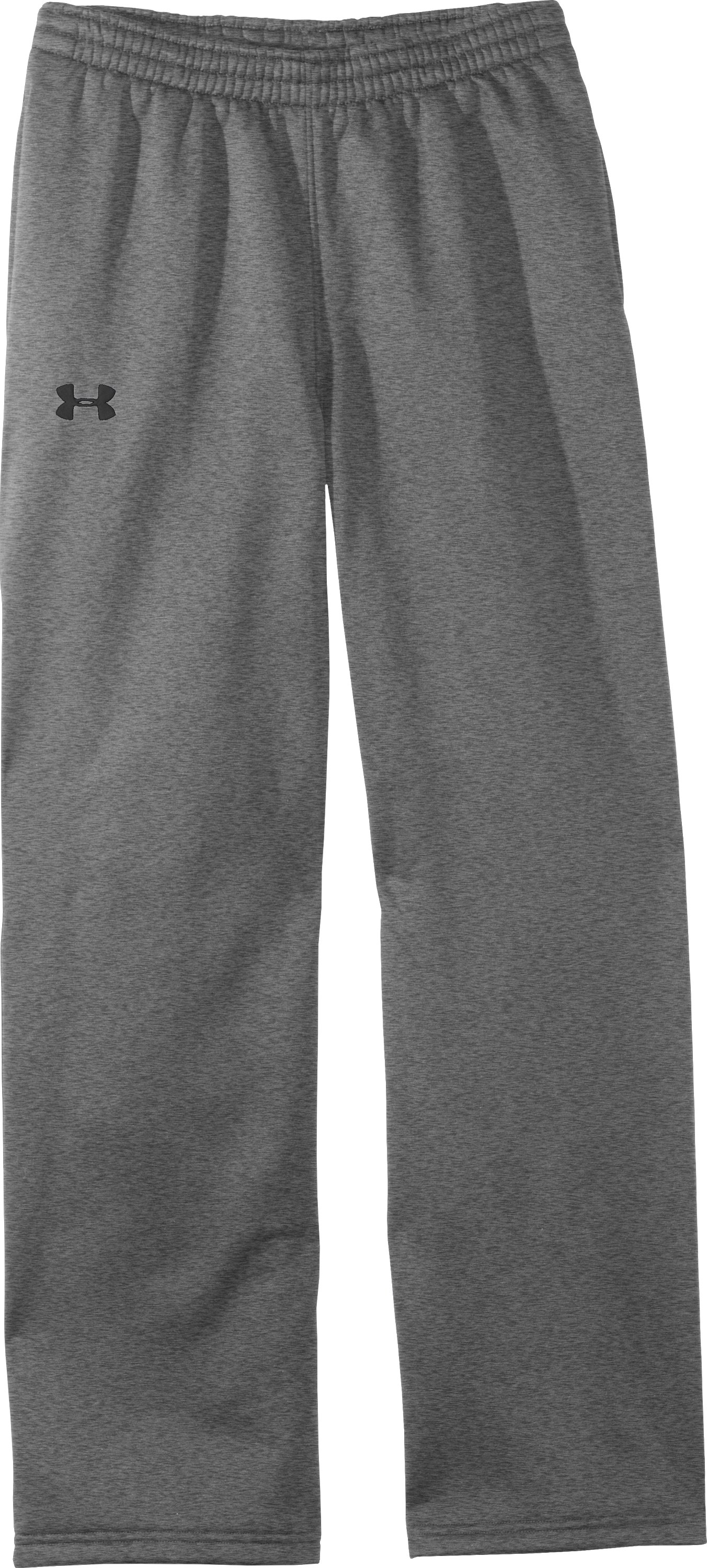 Boys' Armour® Fleece Storm Team Pants, True Gray Heather, Laydown