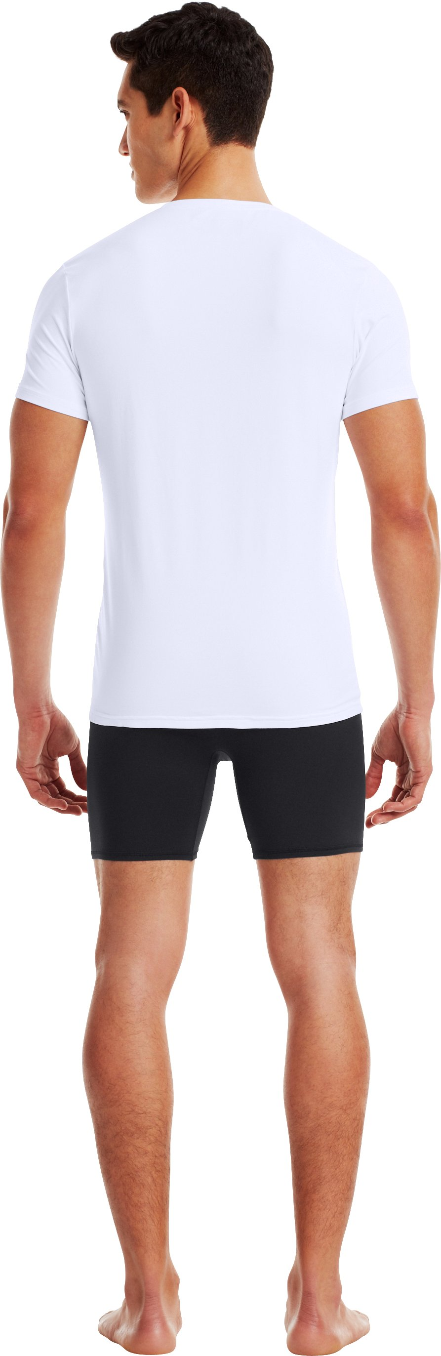Men's UA Elite Crew Undershirt, White, Back