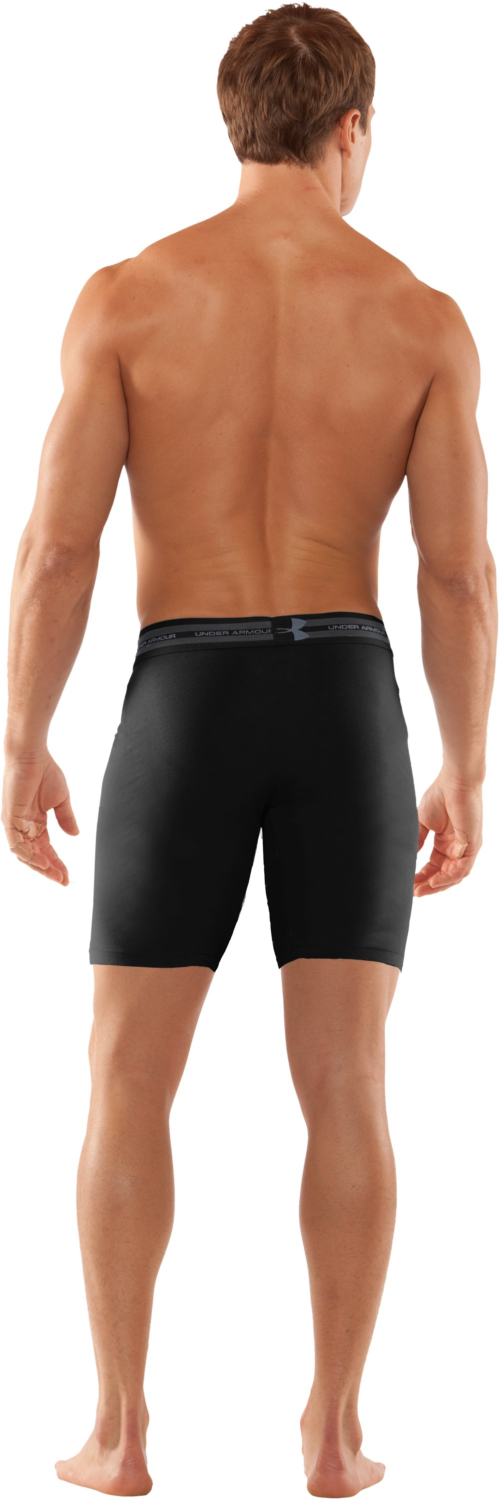 "Men's Charged Cotton® 9"" Boxerjock® Boxer Briefs, Black , Back"