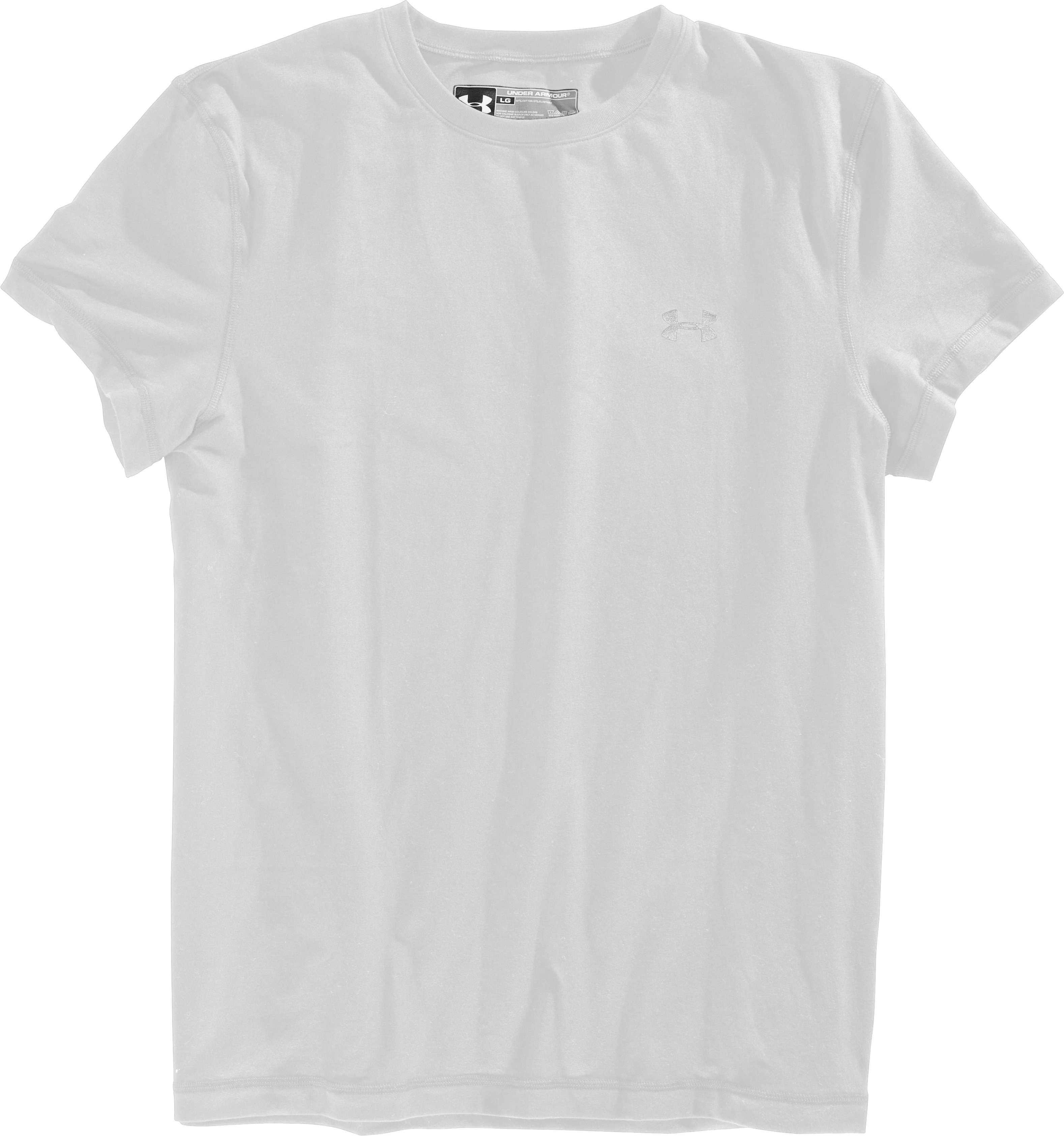 Men's Charged Cotton® Crew Undershirt, White, Laydown