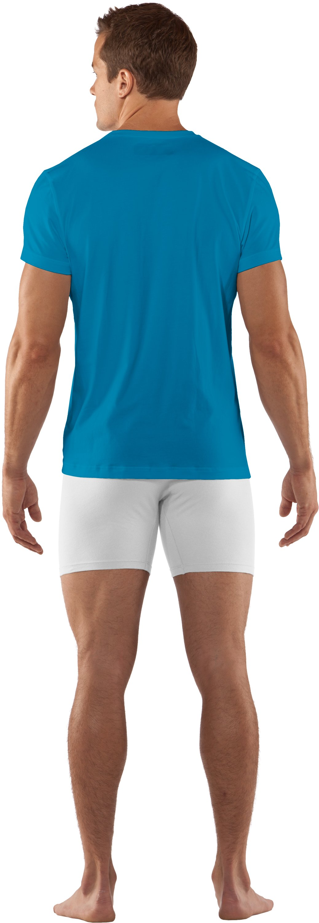 Men's Charged Cotton® Crew Undershirt, SNORKEL, Back