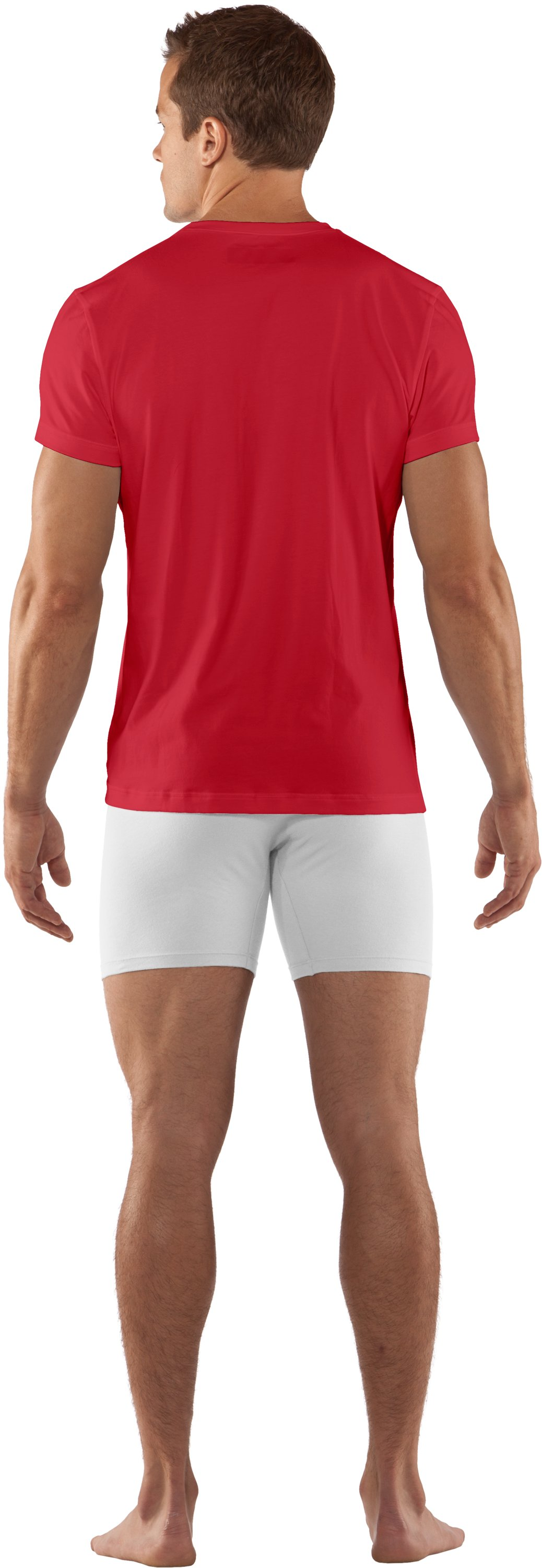 Men's Charged Cotton® Crew Undershirt, Red, Back