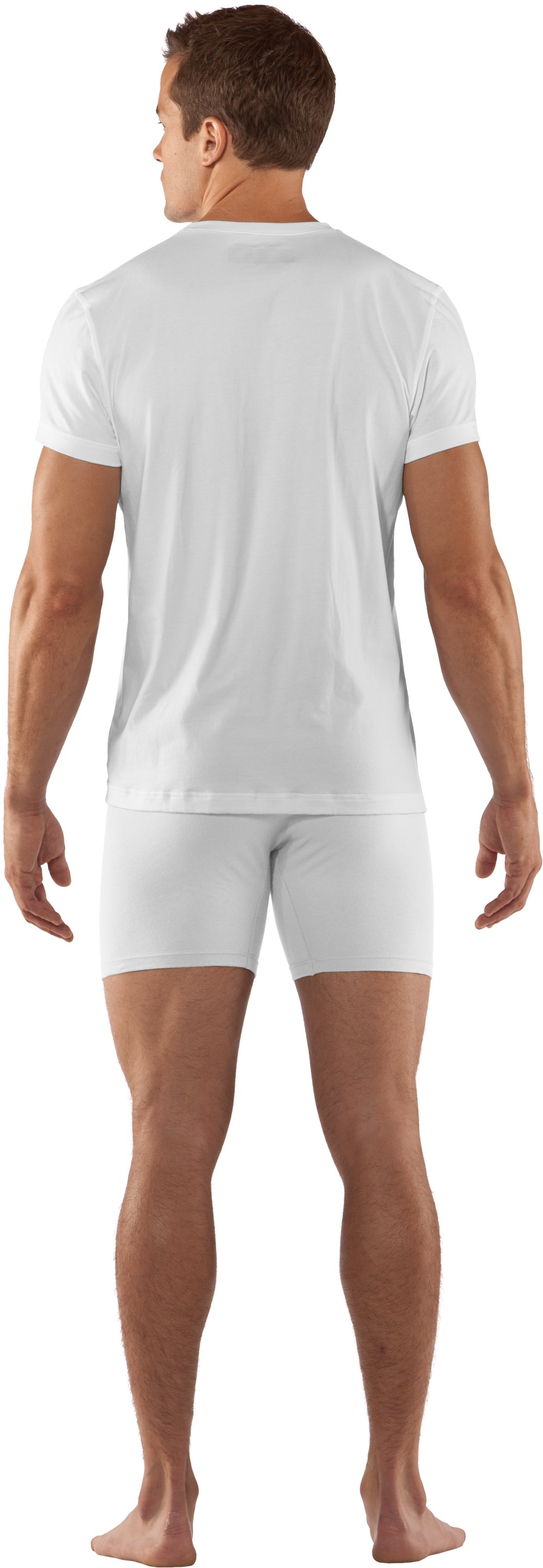 Men's Charged Cotton® V-neck Undershirt, White, Back