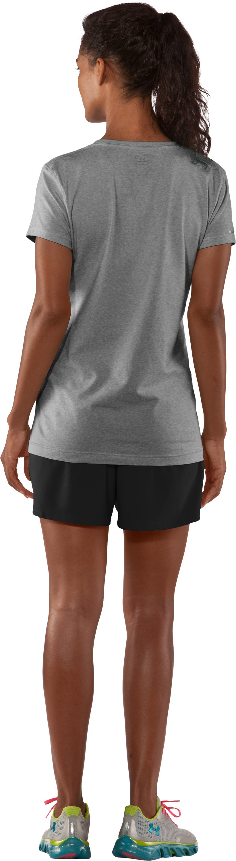 Women's Charged Cotton® Sassy Scoop T-Shirt, True Gray Heather, Back