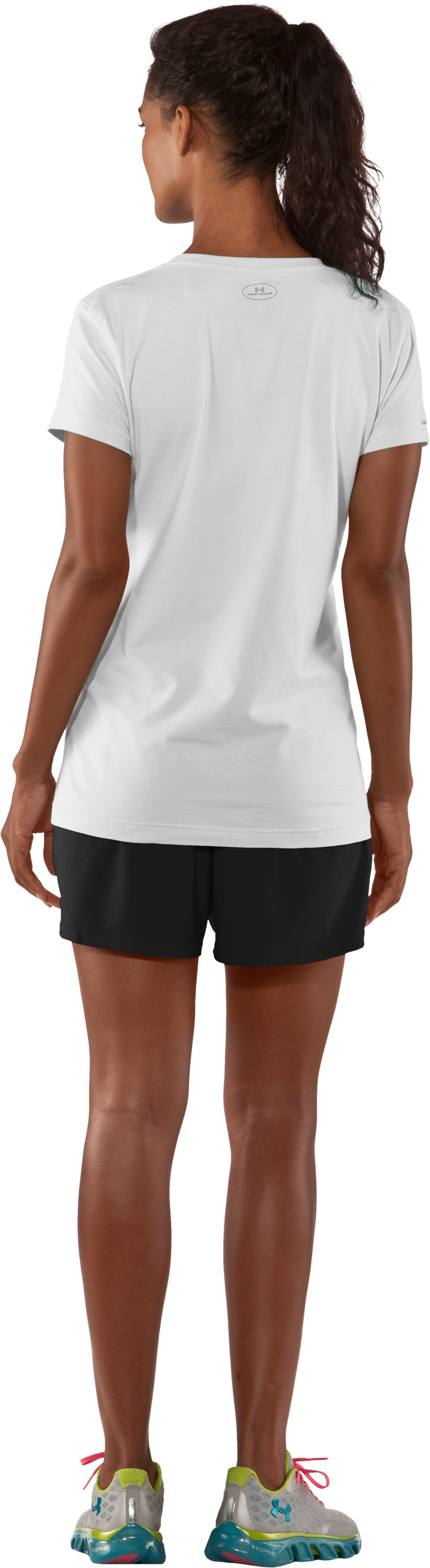 Women's Charged Cotton® Sassy Scoop T-Shirt, White, Back