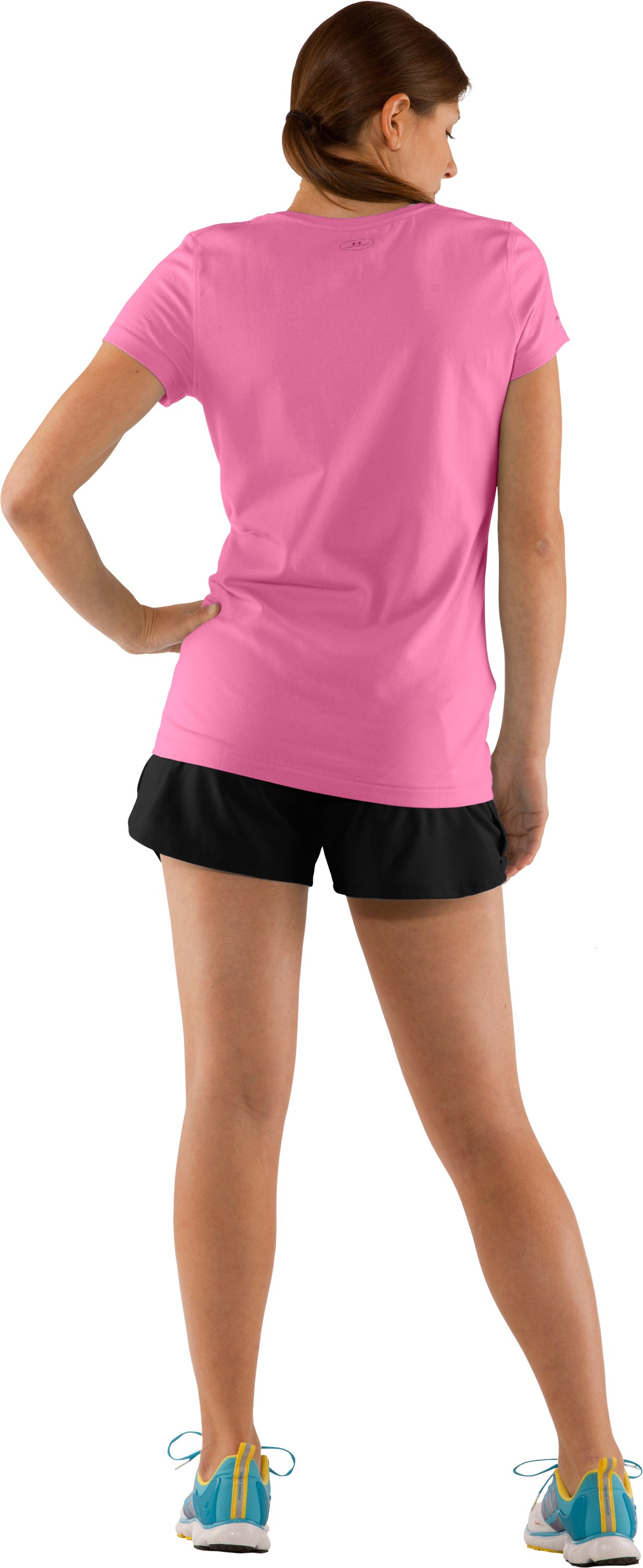Women's Charged Cotton® Sassy Scoop T-Shirt, Fluo Pink, Back