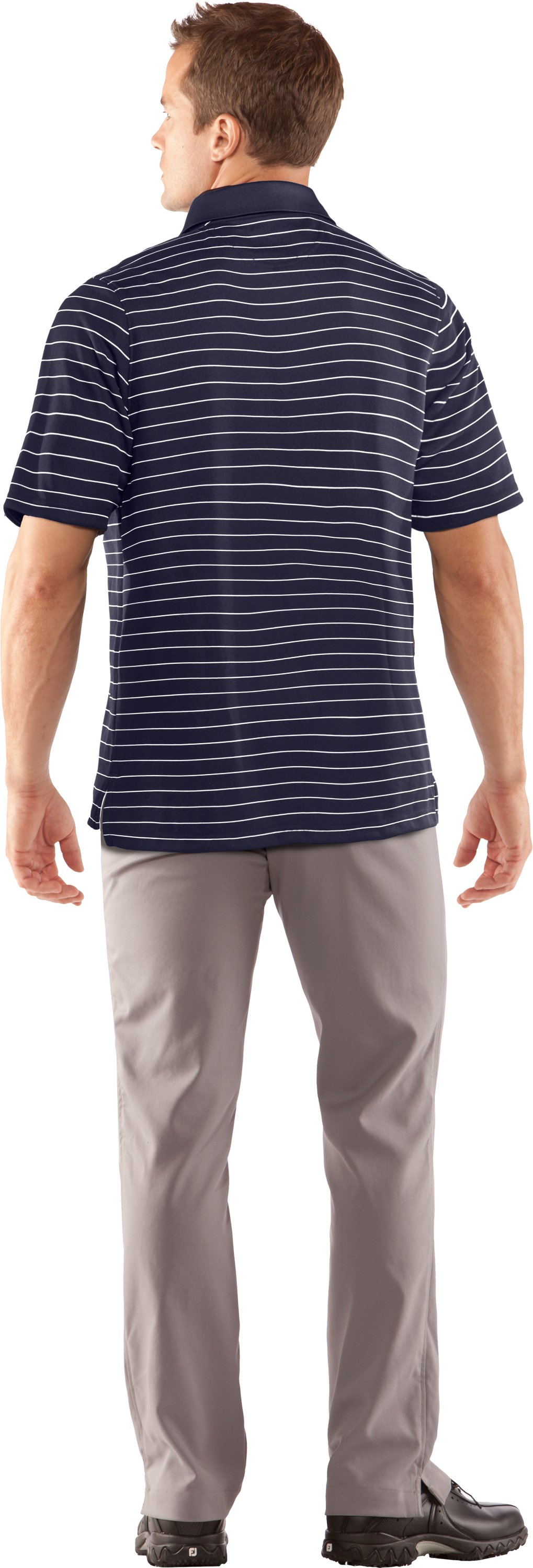 Men's Tottenham Hotspur Draw Stripe Polo, Midnight Navy, Back