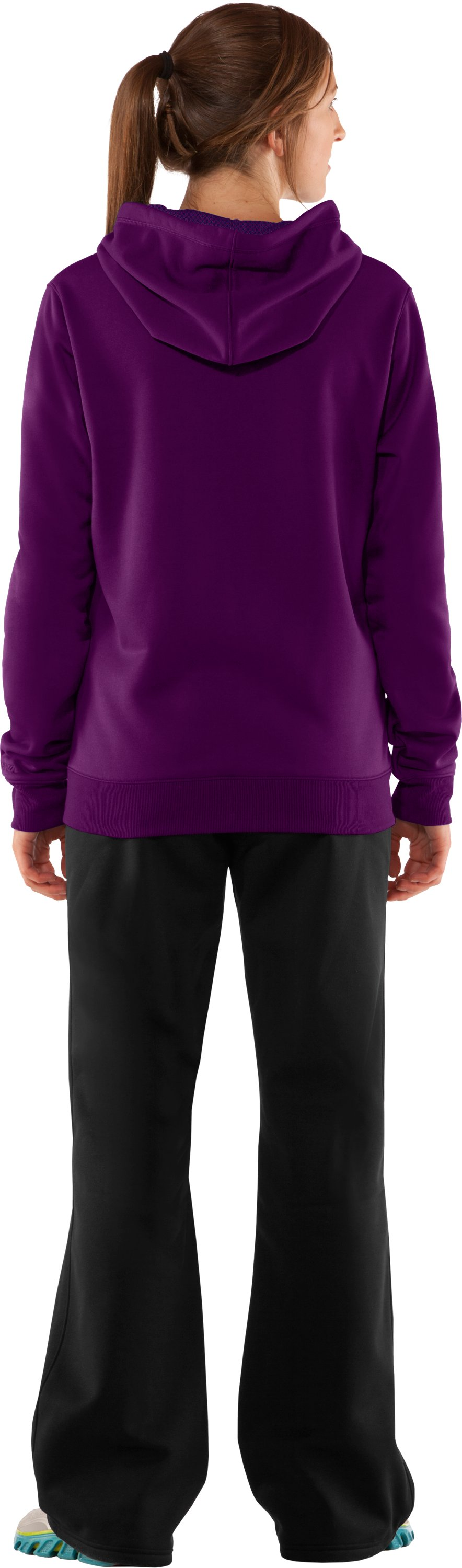 Women's Armour Fleece® Storm Big Logo Intensity Hoodie, Cassis, Back