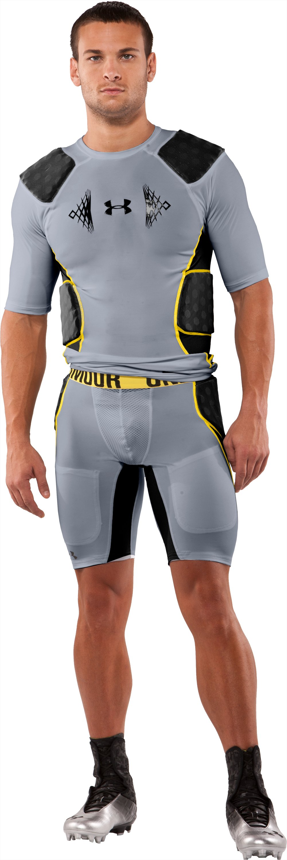 Men's MPZ® 3-Pad Armour® Girdle, Steel, Front