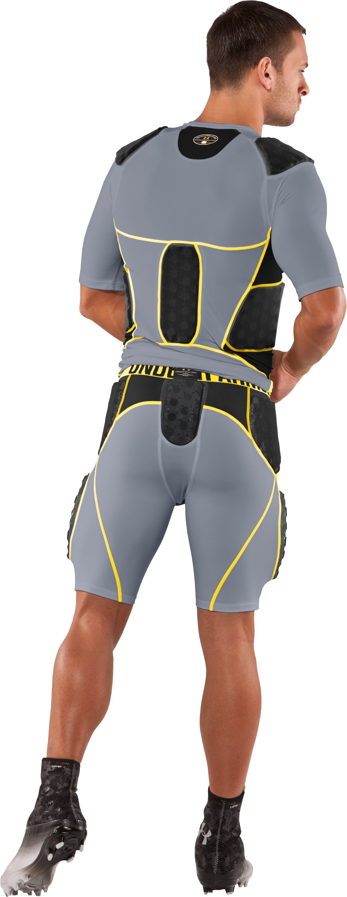 Men's MPZ® 5-Pad 3D Armour® Girdle, Steel, Back
