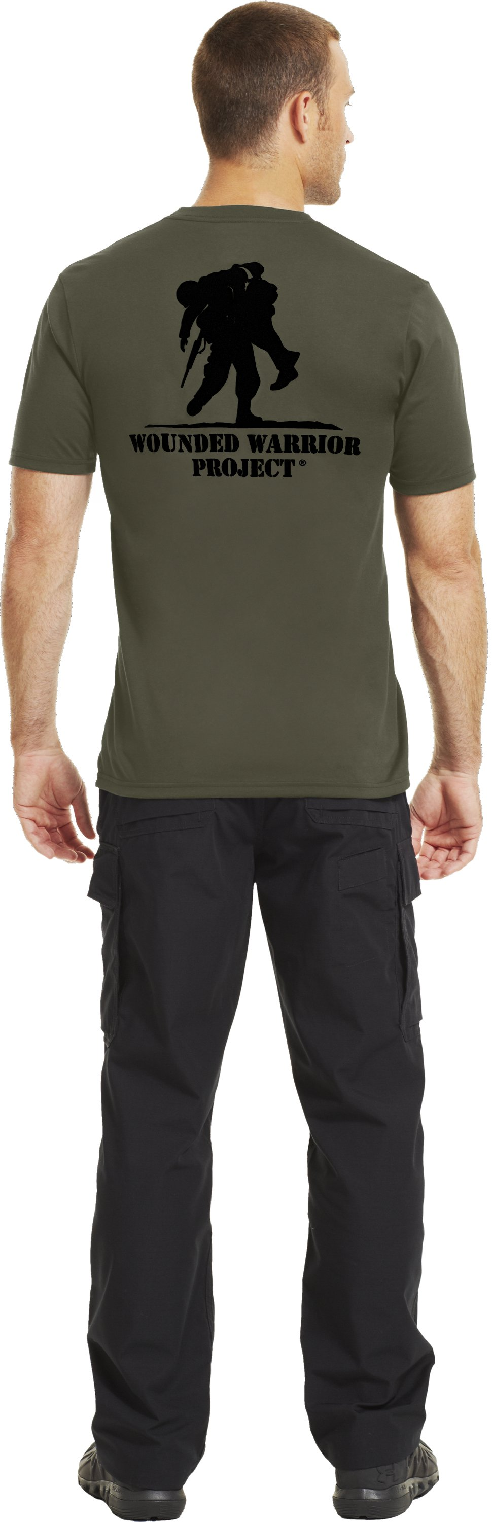 Men's UA WWP BIH T-Shirt, Marine OD Green, Back