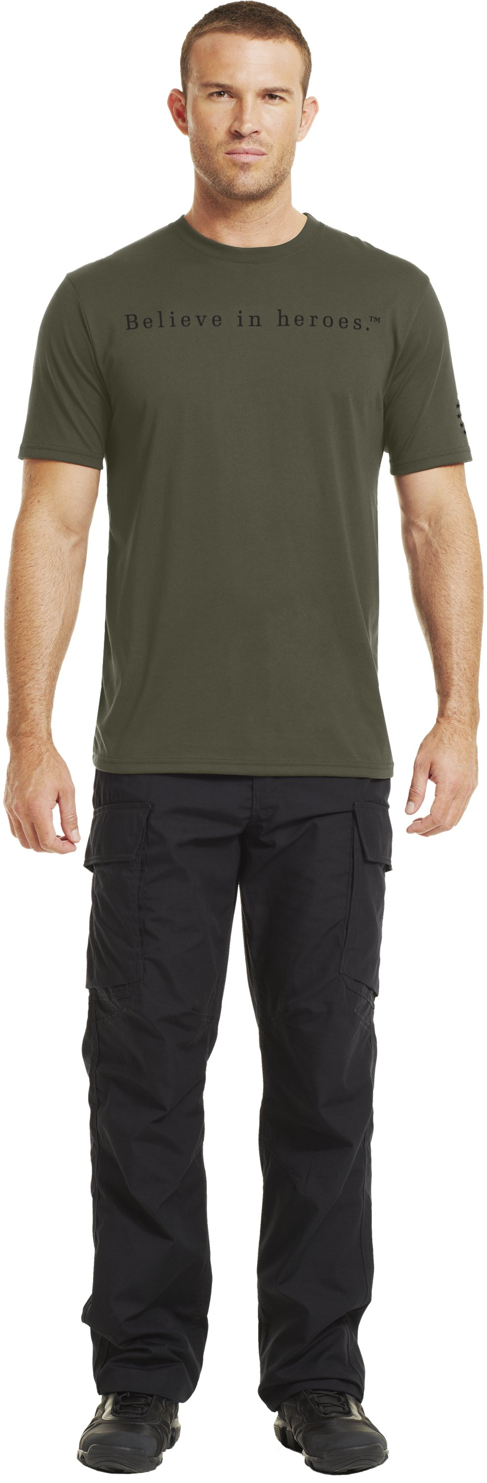 Men's UA WWP BIH T-Shirt, Marine OD Green, zoomed image