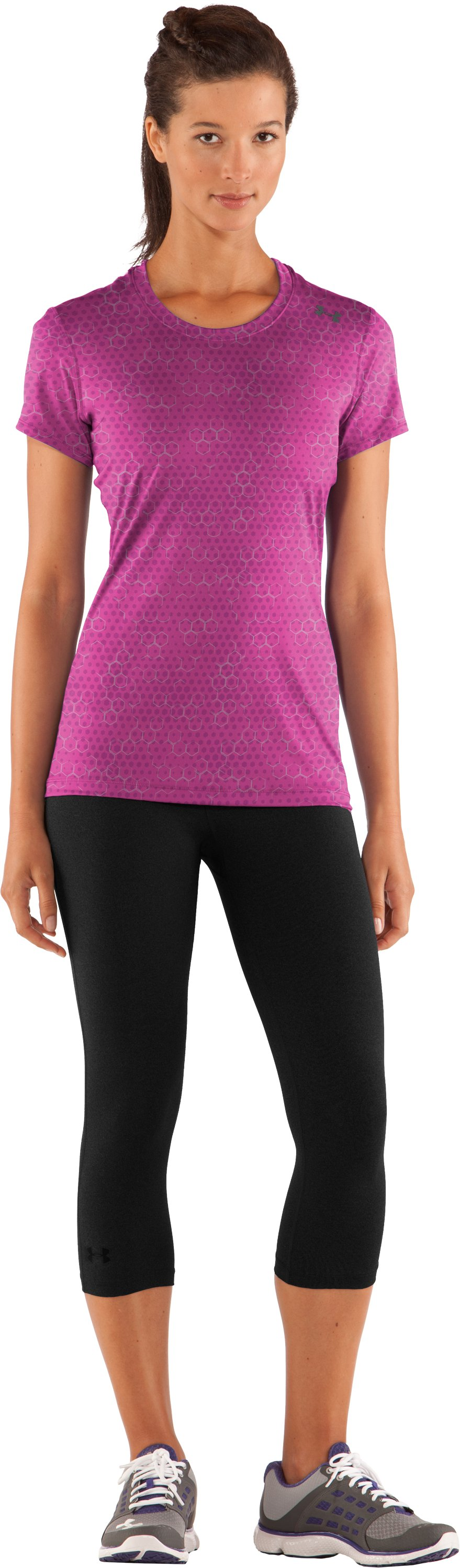 Women's HeatGear® Sonic Printed Short Sleeve, Playful